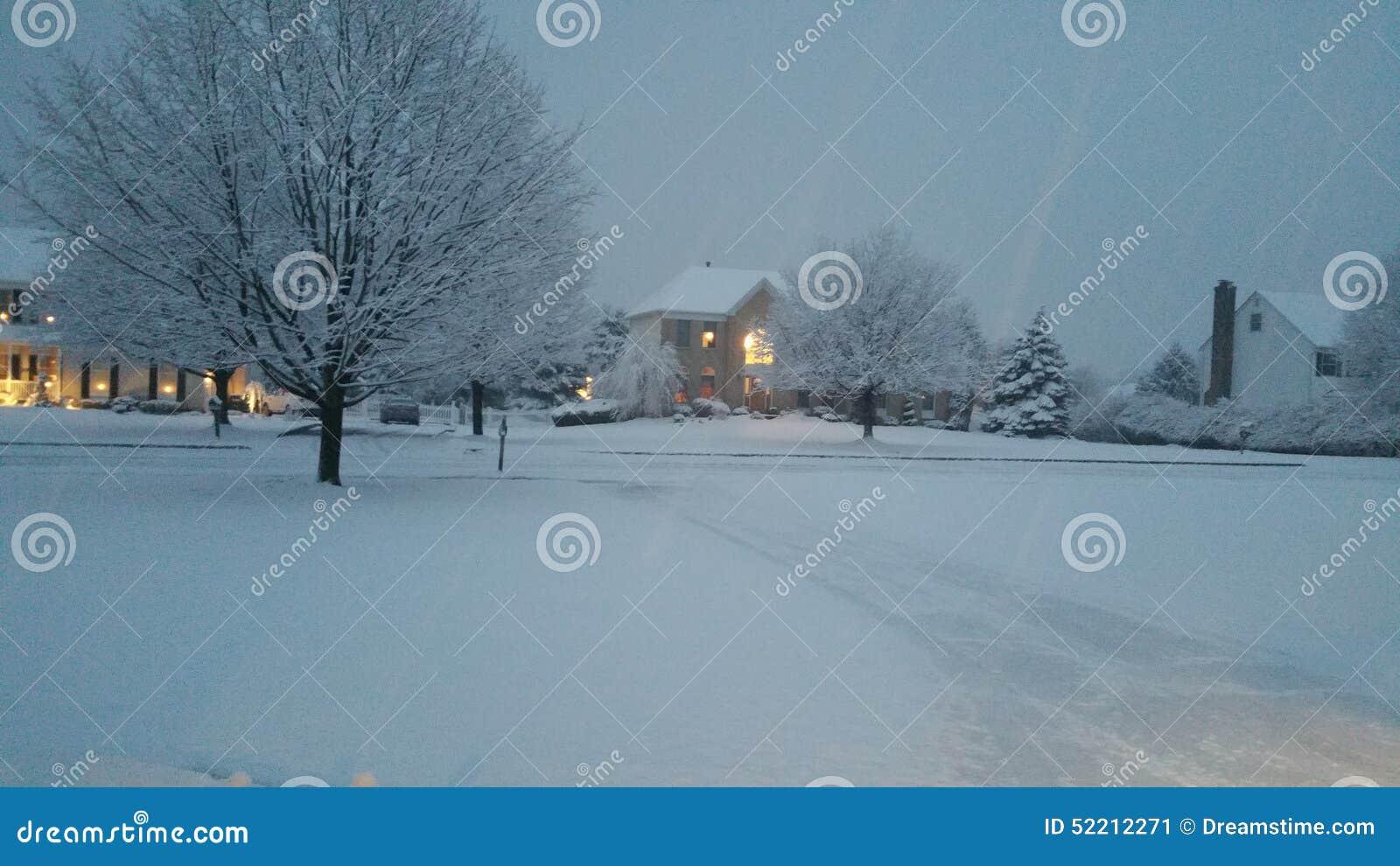 L ultima neve nel New Jersey