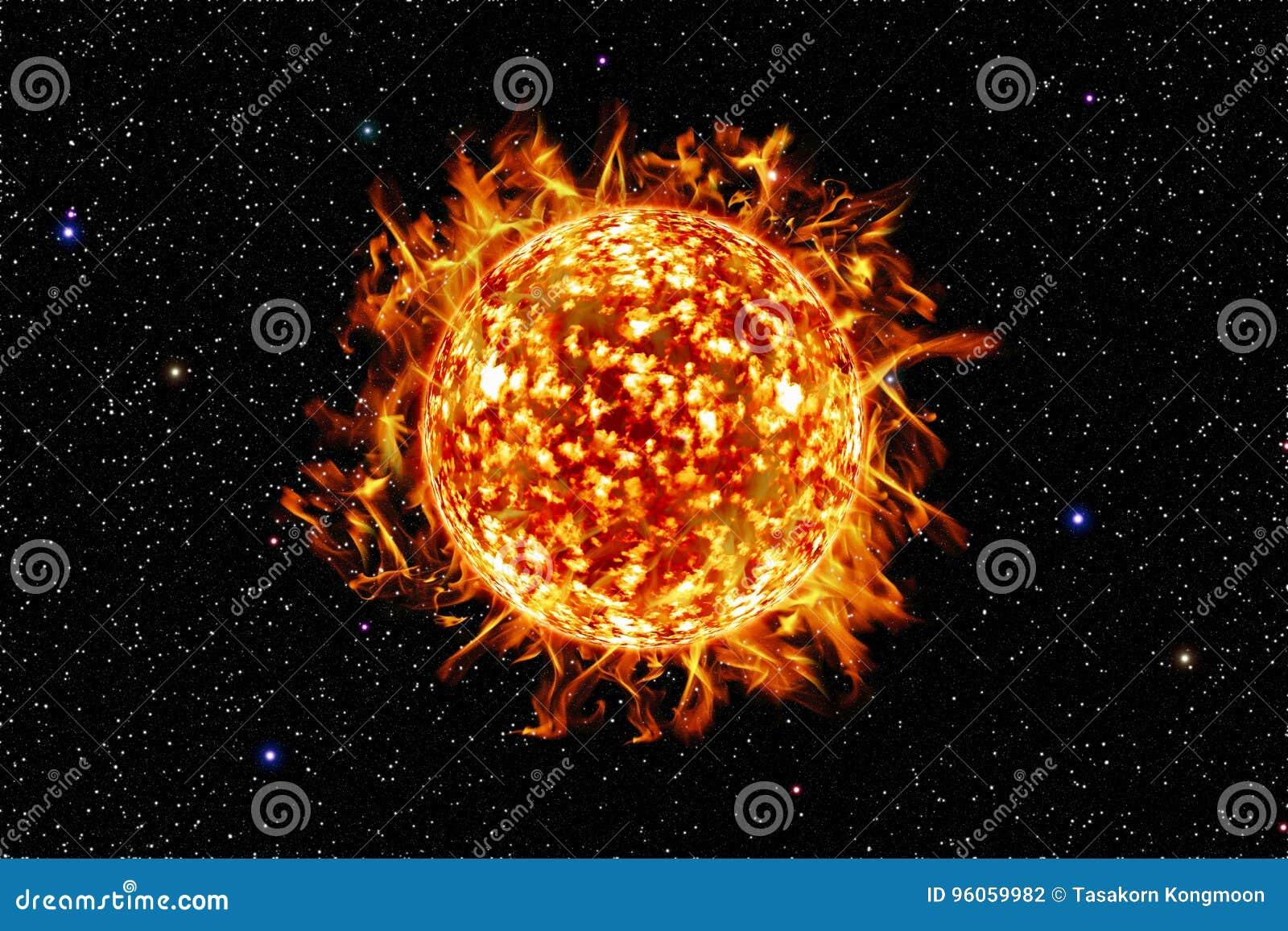 L un soleil dans la galaxie, élément de cette image meublé par la NASA