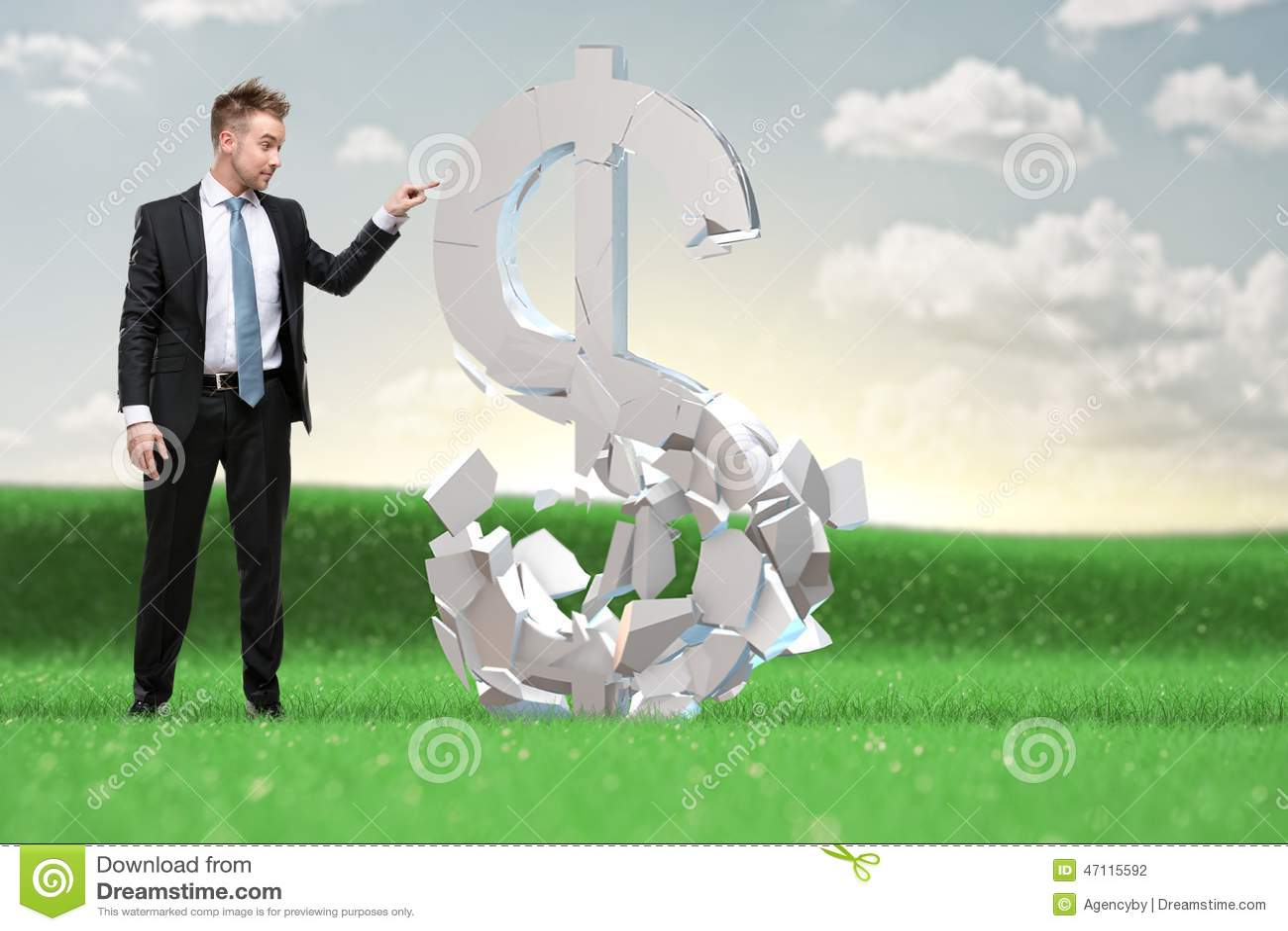 L uomo d affari astuto decide che cosa fare con i beni della rublo