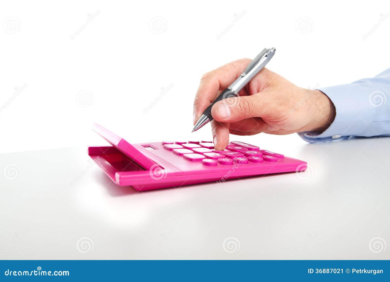 Download L'uomo D'affari Ed Il Calcolatore Immagine Stock - Immagine di sporgenza, rosso: 36887021