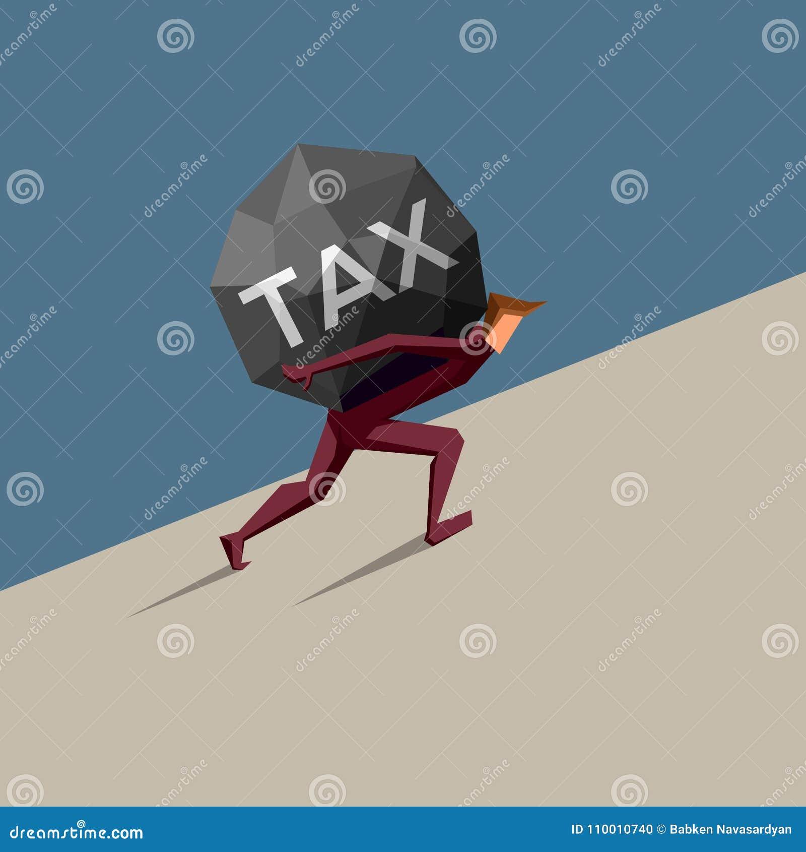 L uomo d affari porta la tassa pesante in salita