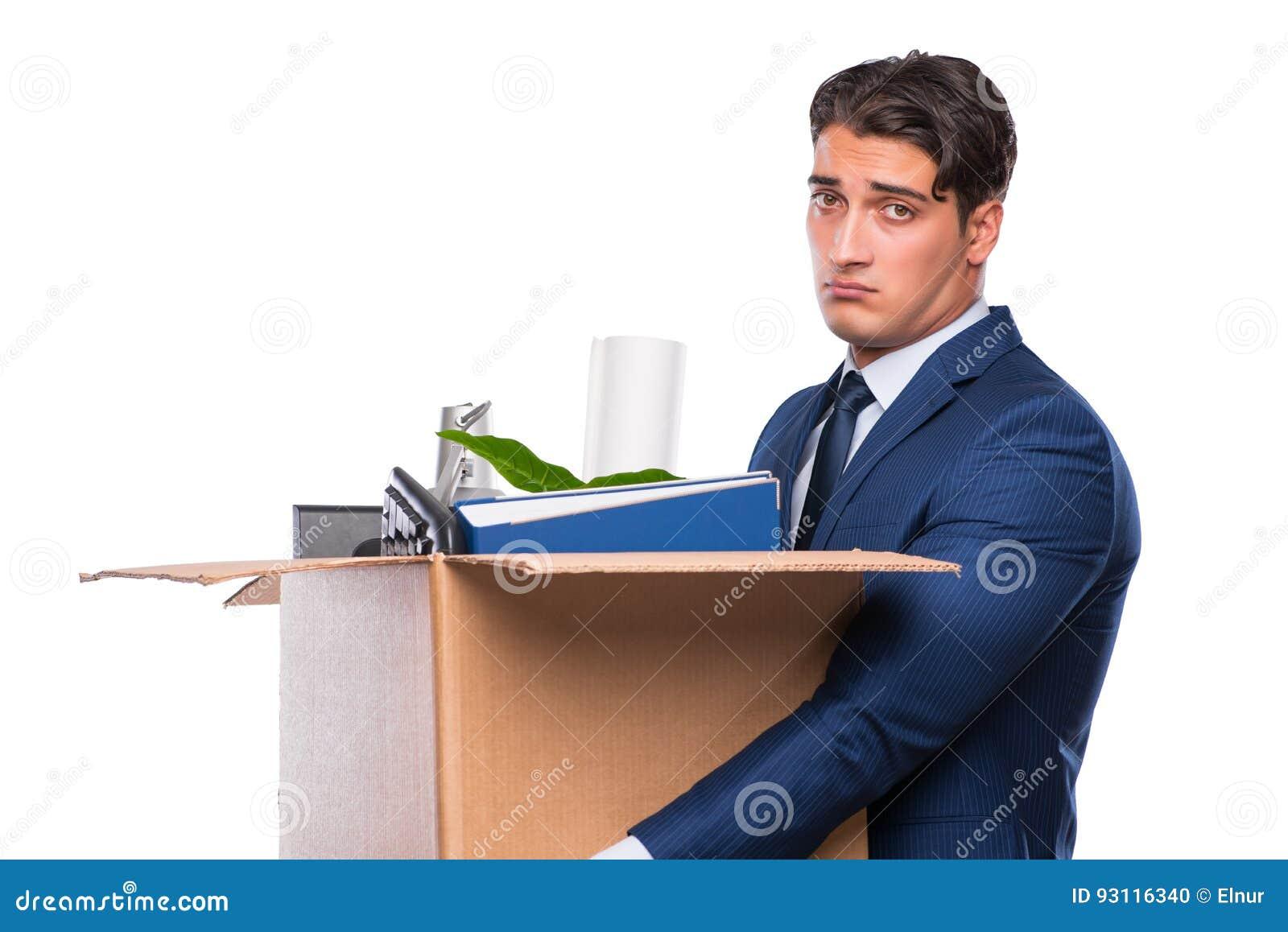 L uomo d affari reso ridondante infornato dopo il licenziamento