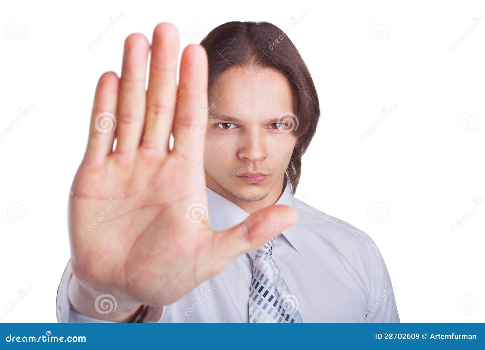 L uomo nega il gesto
