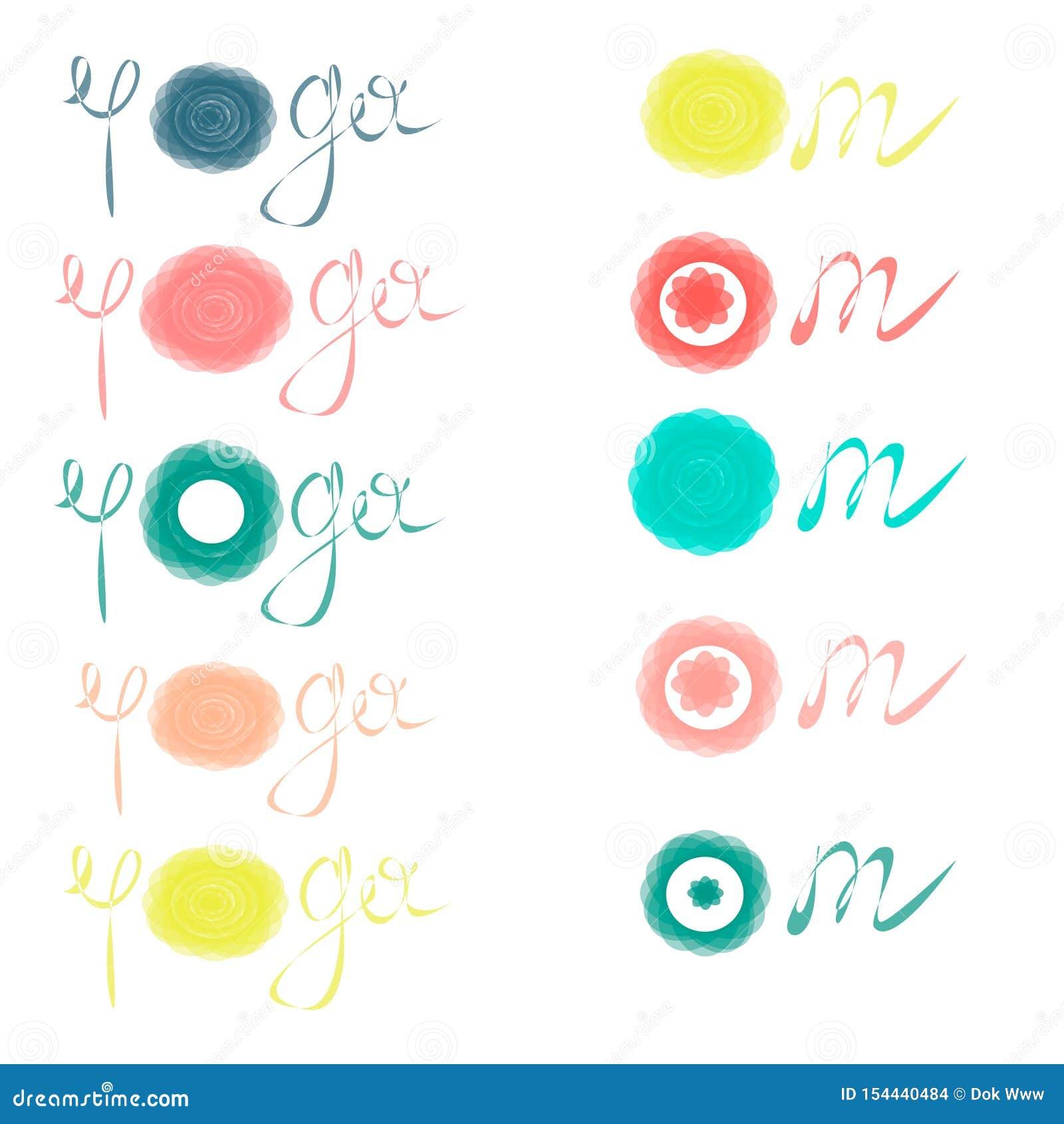 L yoga accetta, elasticit? - ispiri e citazione motivazionale Bella iscrizione disegnata a mano Segno elegante di calligrafia