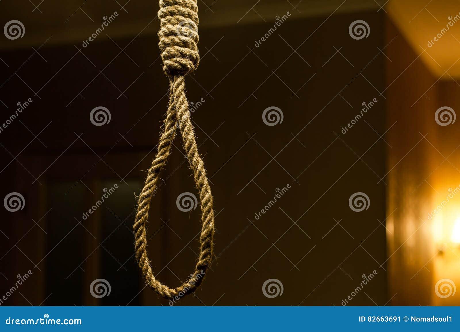 Laço da corda do suicídio