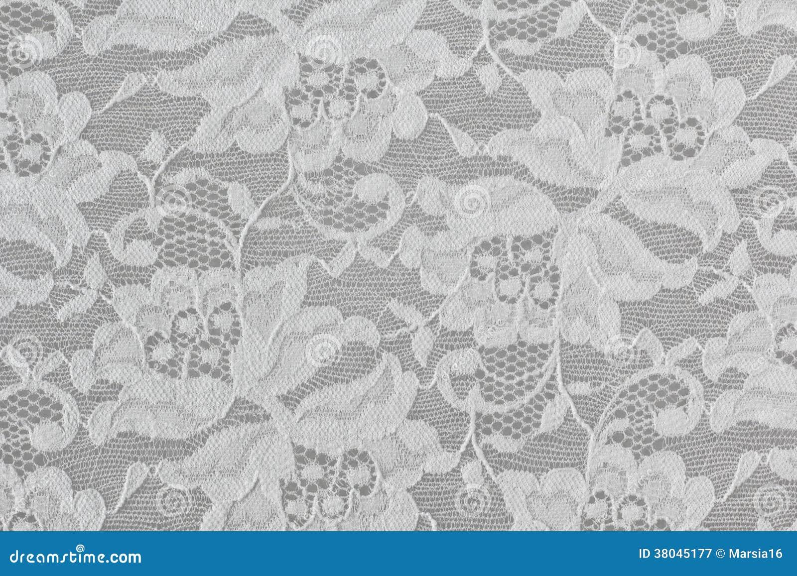 Laço floral branco