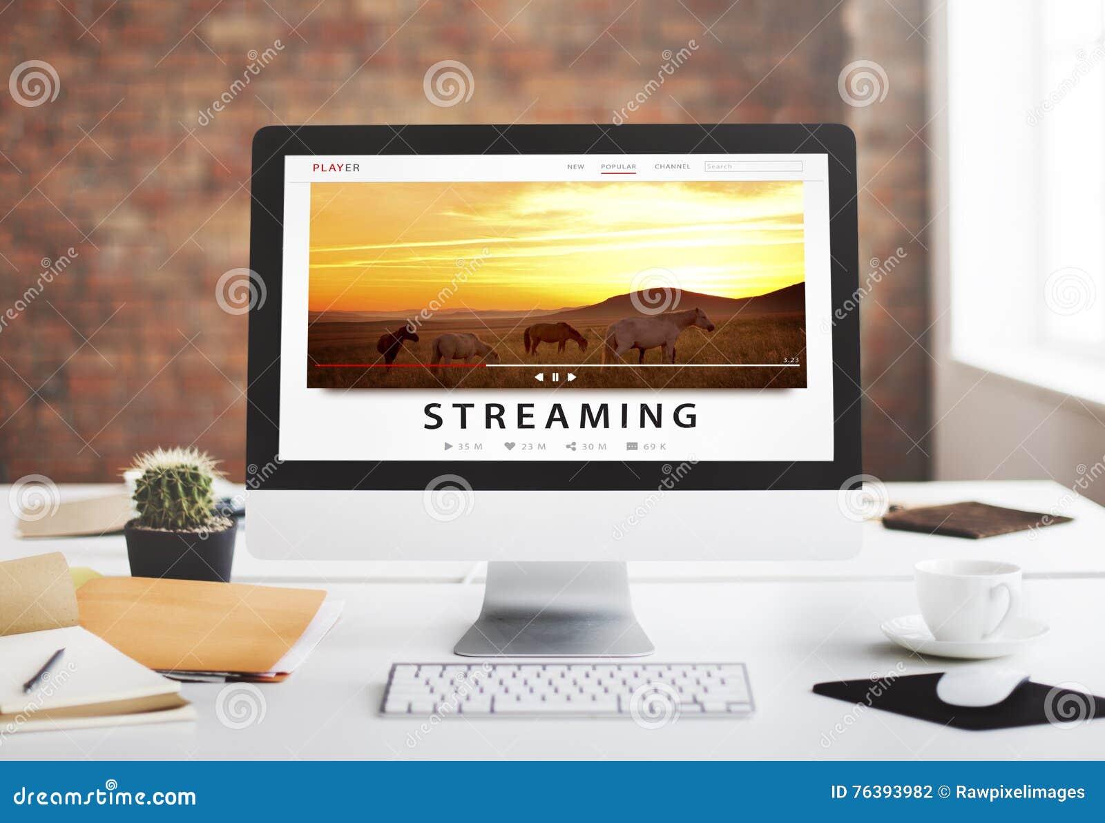Lać się Multimedialnego Audio rozrywka interneta pojęcie