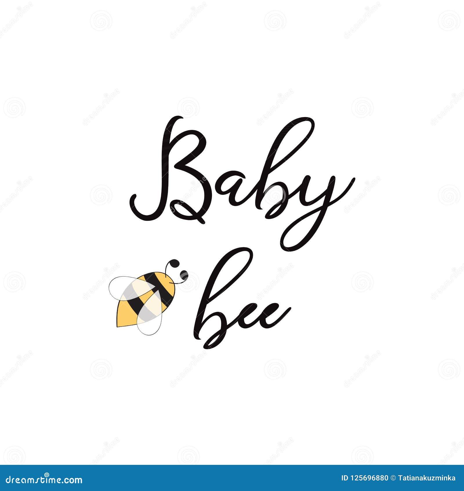 La Abeja De La Frase De La Abeja Del Bebé En El Diseño Lindo