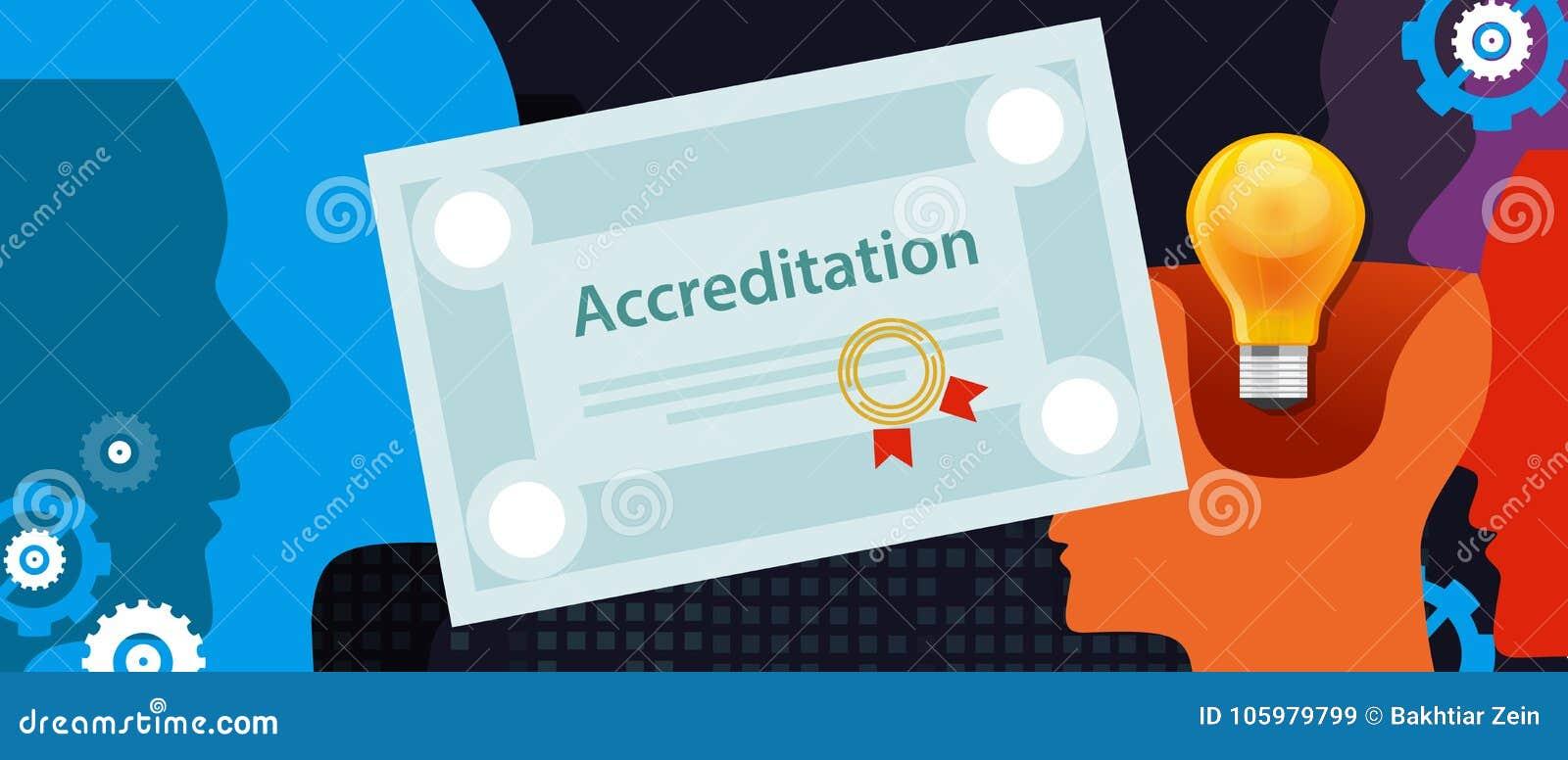 La acreditación autorizó el papel del certificado del negocio de la organización con el sello