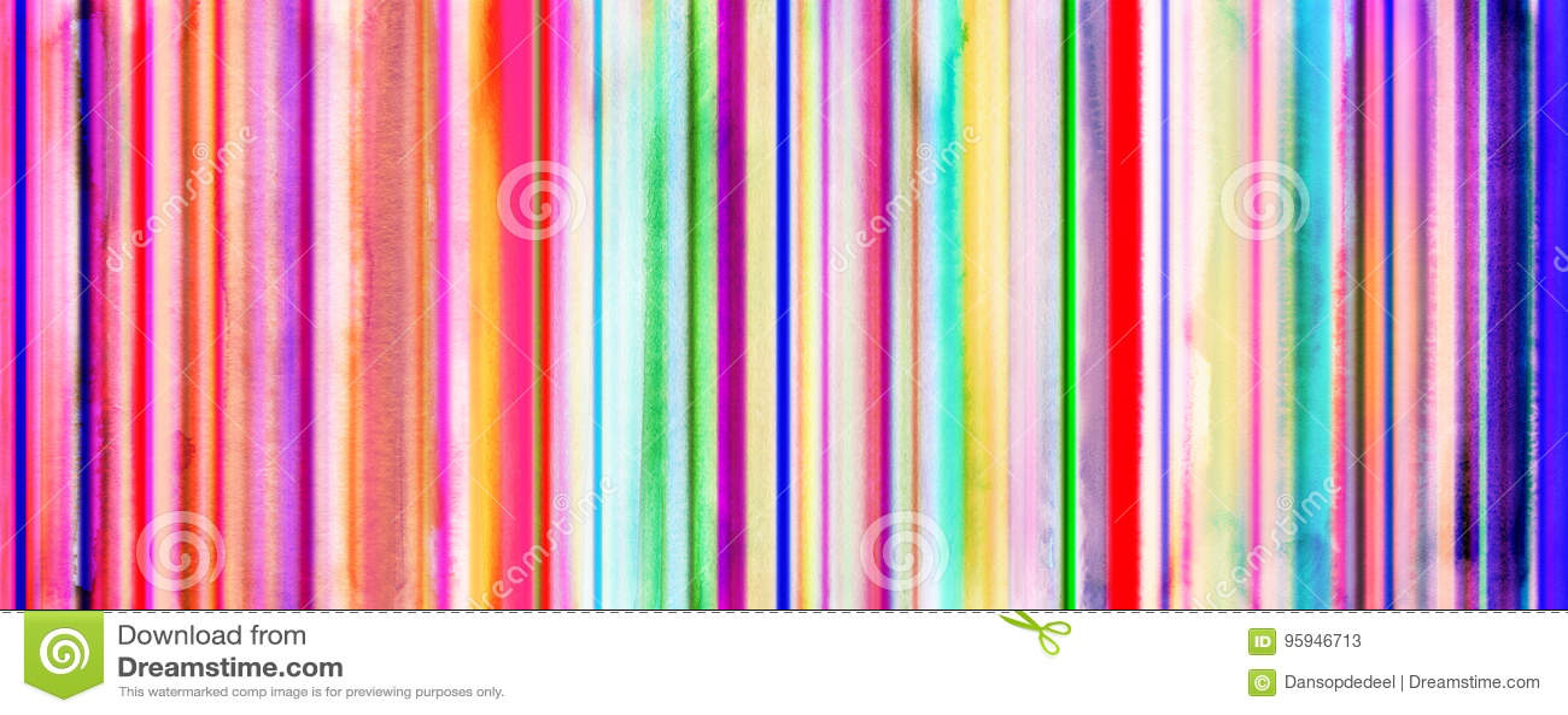 La acuarela colorida raya la bandera con las líneas rectas añadidas palmadita