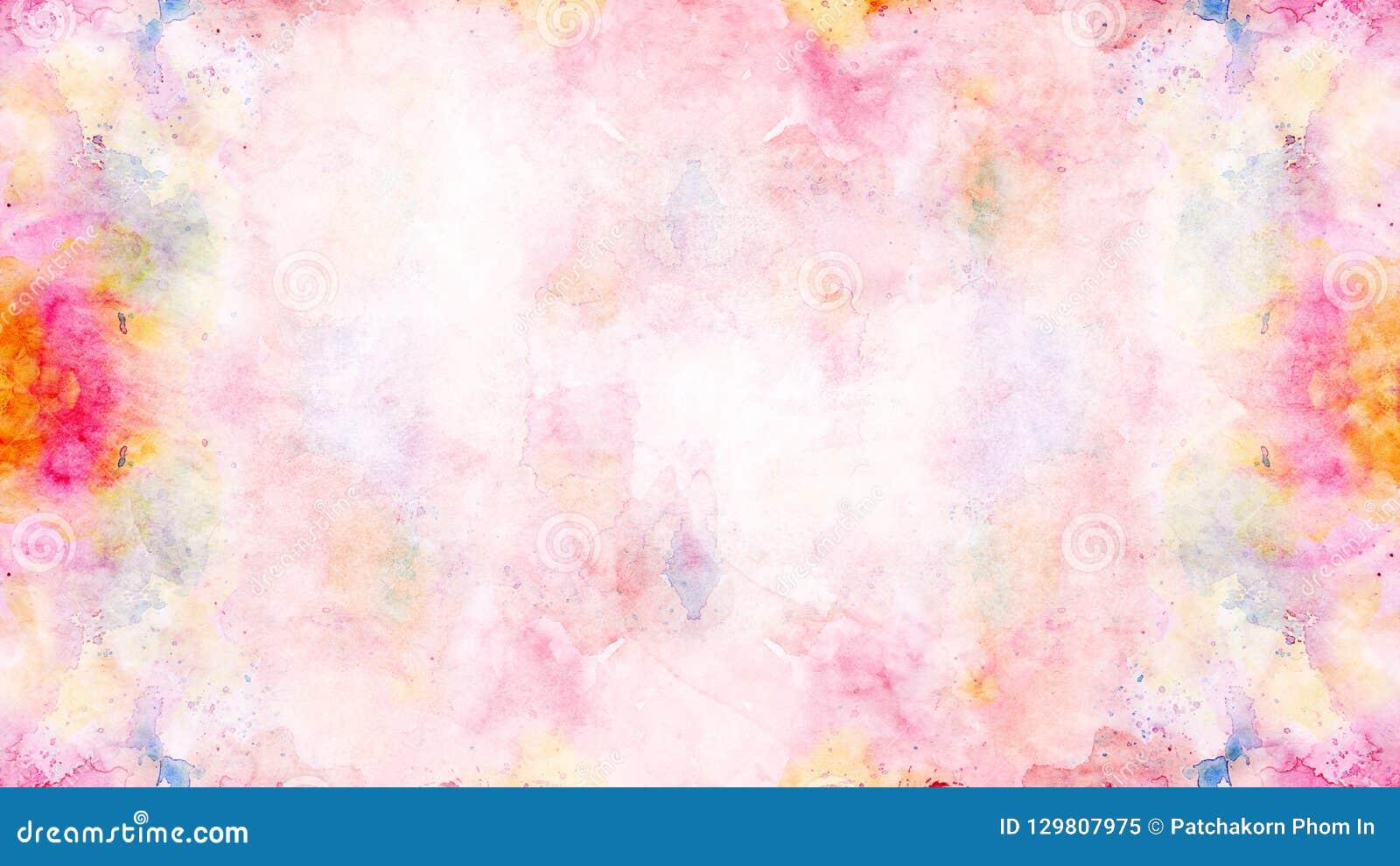 La acuarela colorida suave del extracto pintó el fondo