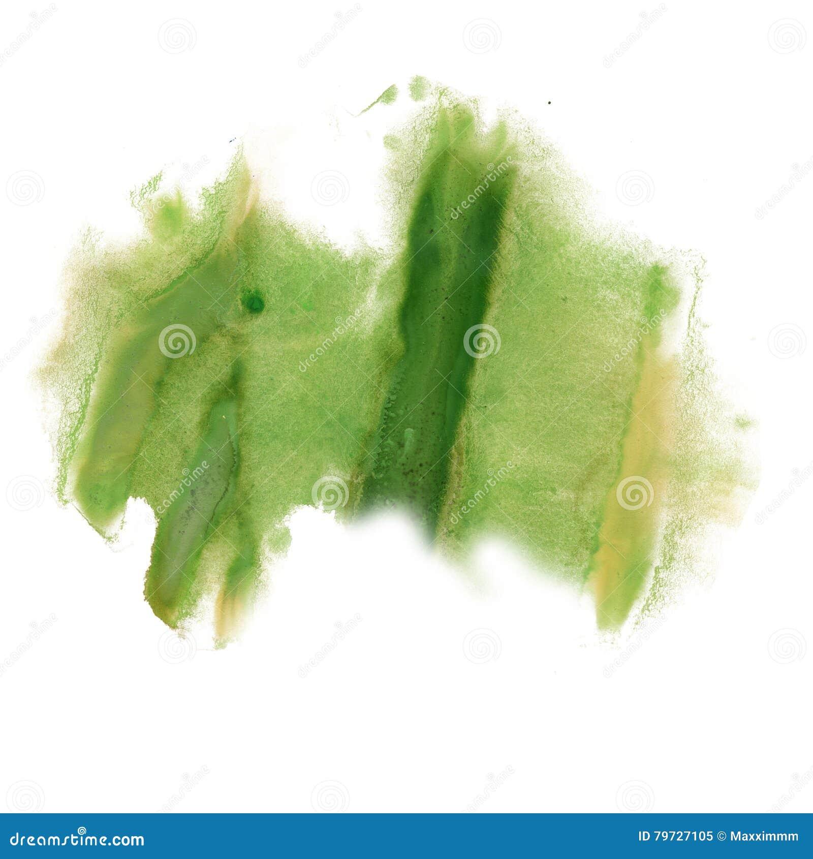 La acuarela frota ligeramente color de la textura del verde del movimiento de la pintura con el espacio para su propio arte del t