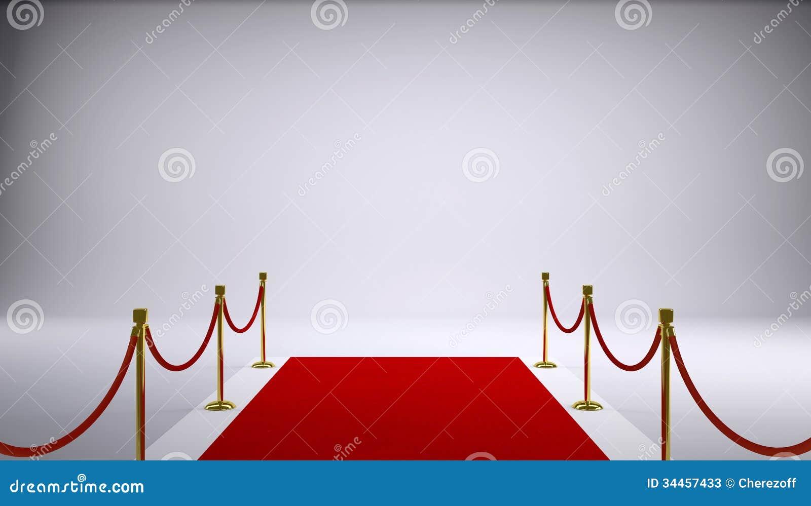 La alfombra roja fondo gris imagen de archivo imagen for Alfombra persa roja