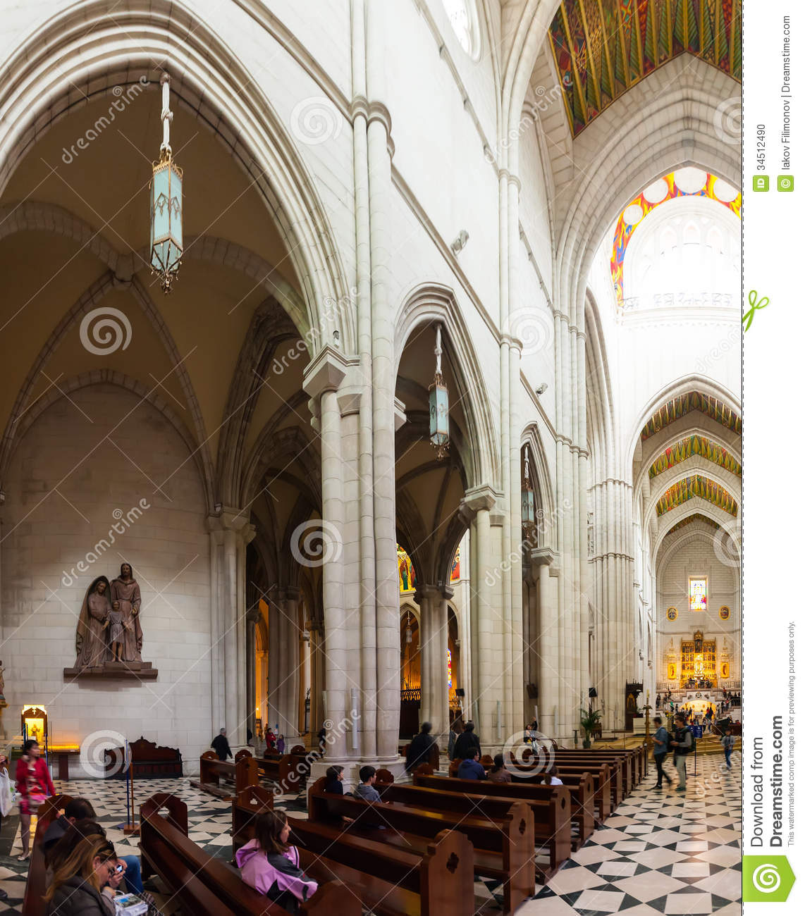 La Almudena Cathedral Main Church Of Spain Editorial Image Image Of Europe Inside 34512490
