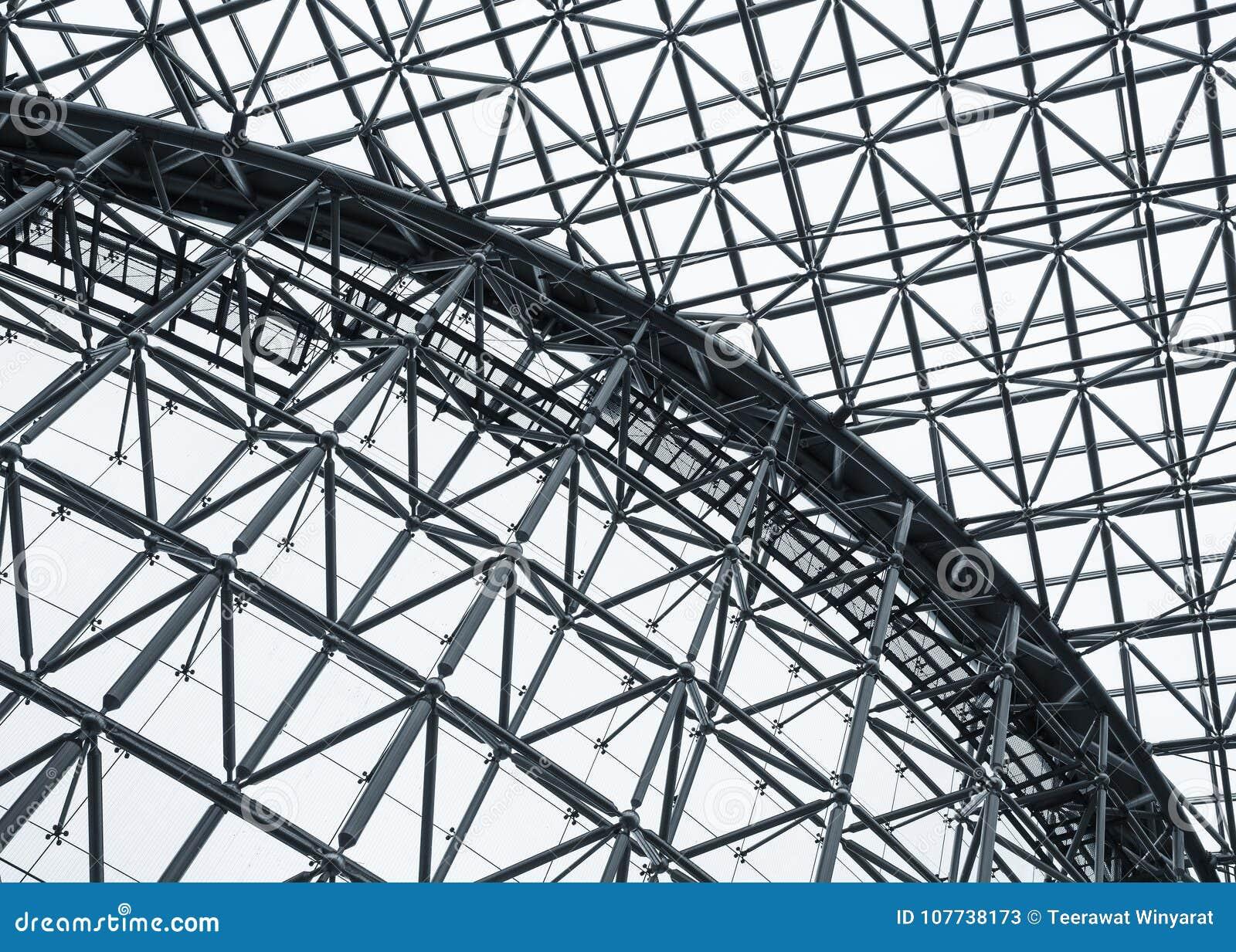 La Arquitectura Del Modelo Del Tejado De La Estructura De Acero ...