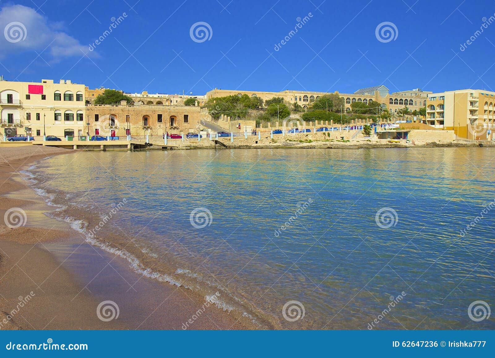 La baia di St George, st Julians, Malta