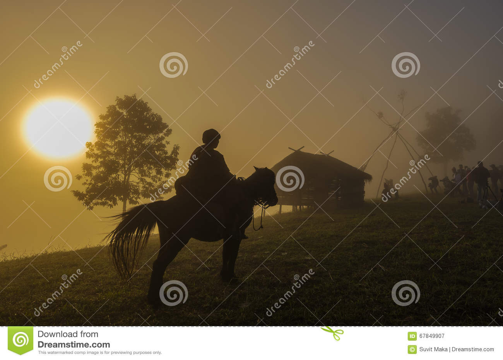 La bambina sta montando un cavallo