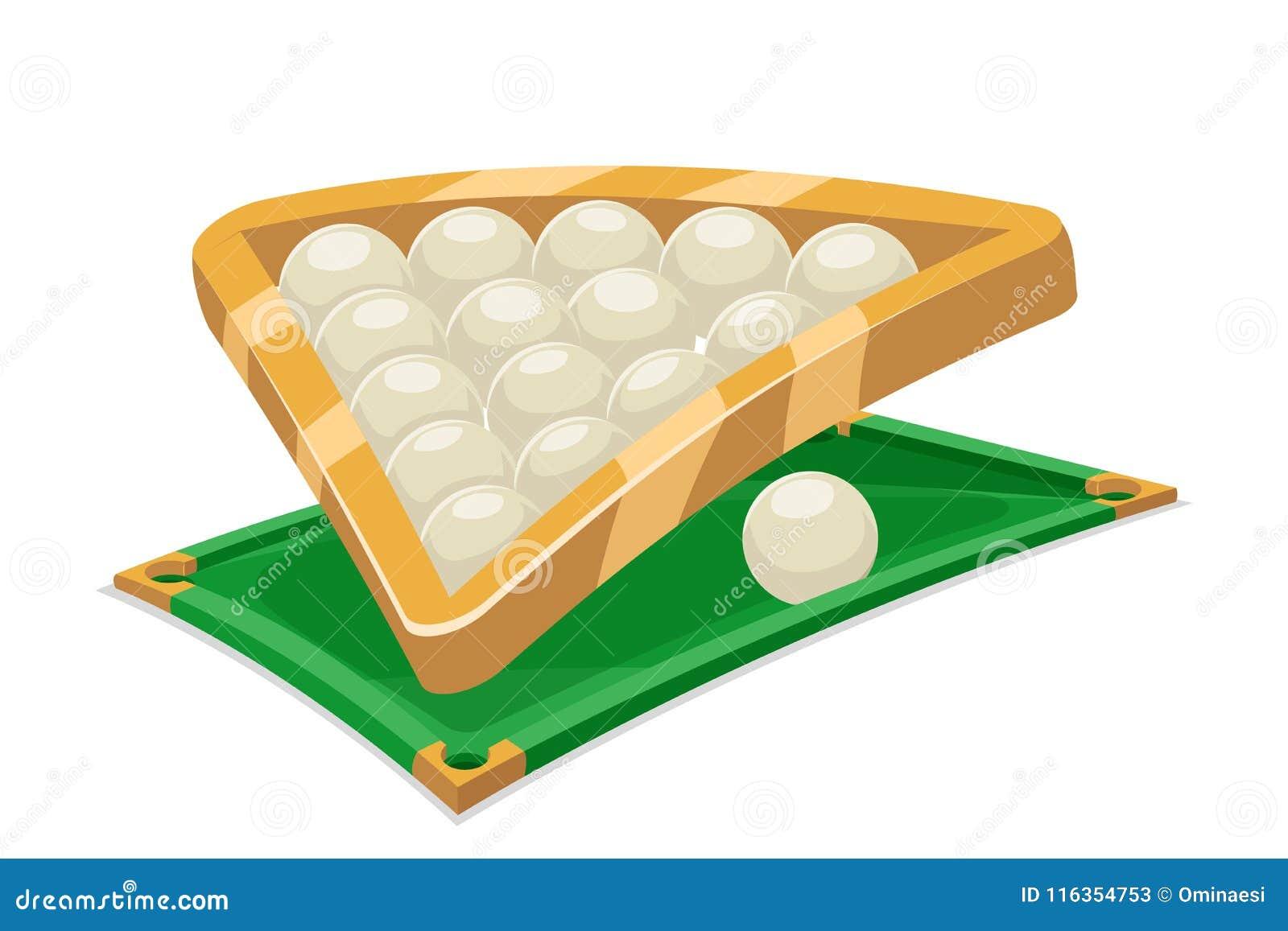 La bande dessinée de sport de gisement de table de boule de billards a isolé l illustration de vecteur d icône