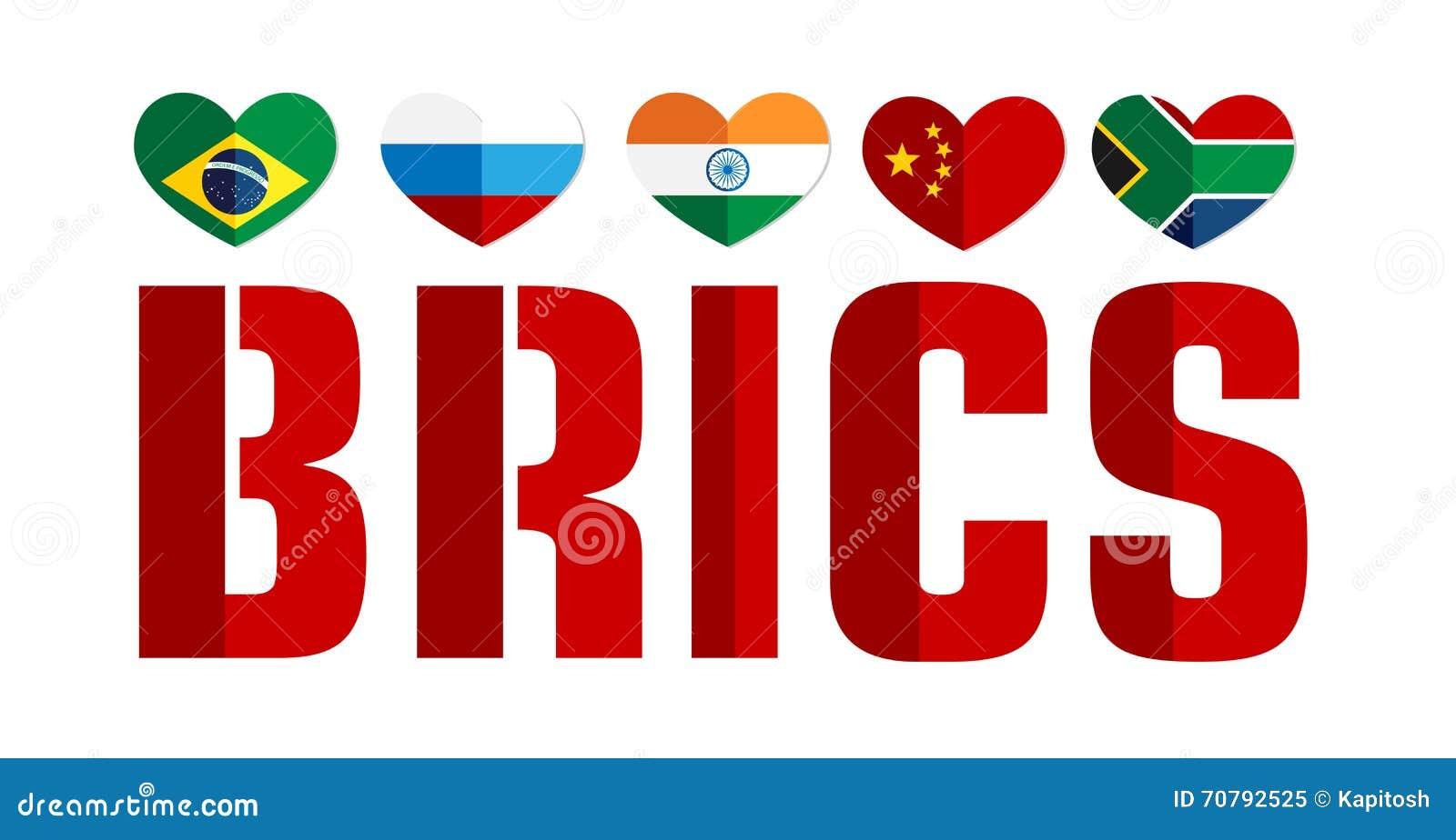 La Bandera De Los Países De BRICS Colorea El Icono Del Web ...