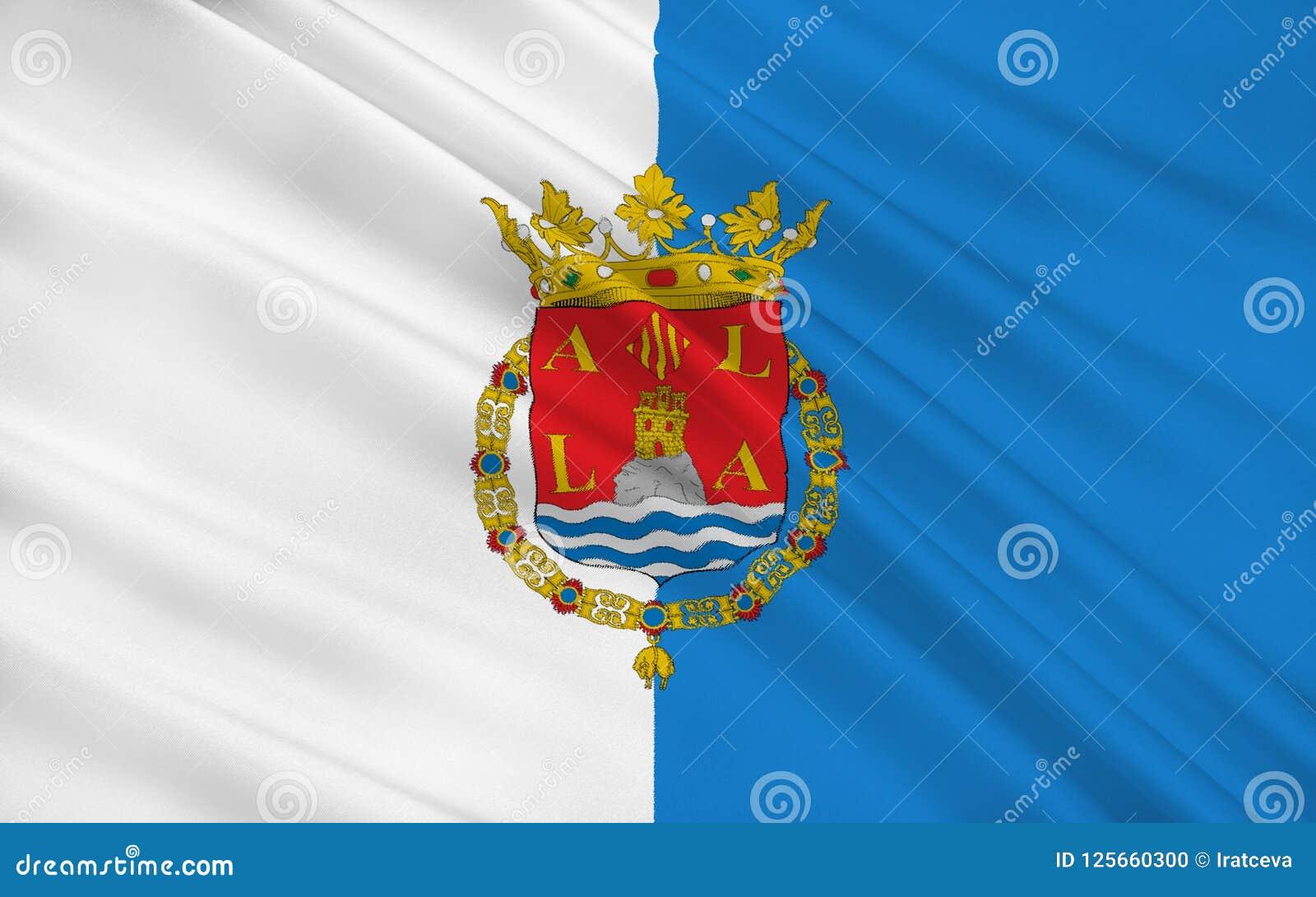 La bandiera di Alicante è una città e un porto in Spagna su Costa Blanca