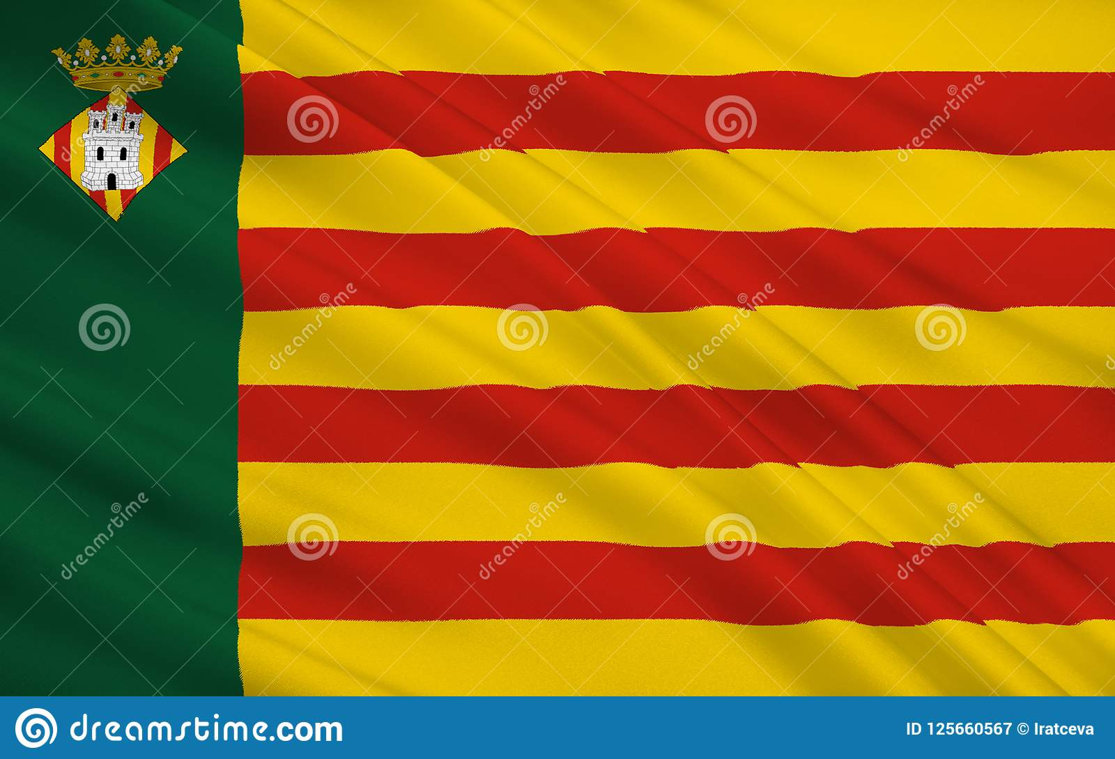 La bandiera di Castellon de la Plana è la capitale del provinc