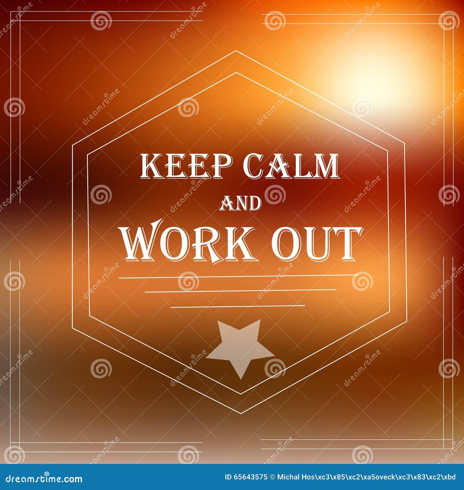 La bannière de motivation gardent le calme et soient adaptées
