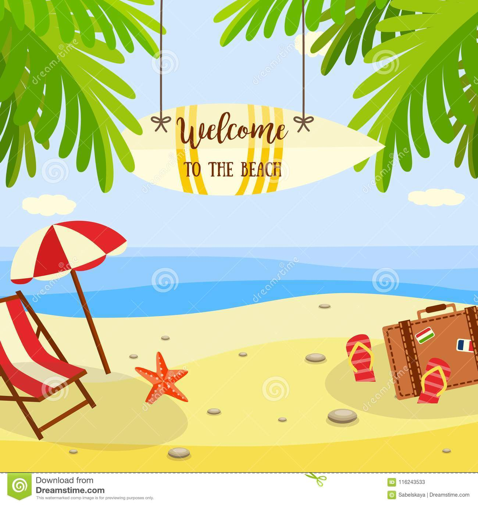 b6f546072f833 La bannière de vacances de plage d été avec des accessoires de salon et de  voyage