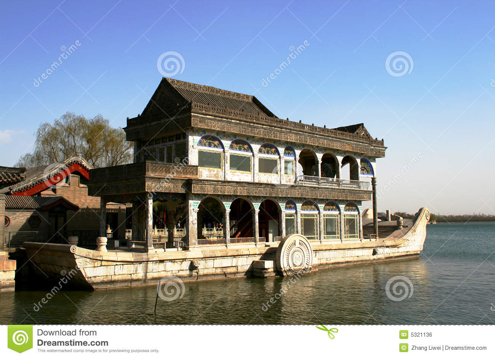 Download La barca di pietra fotografia stock. Immagine di kunming - 5321136