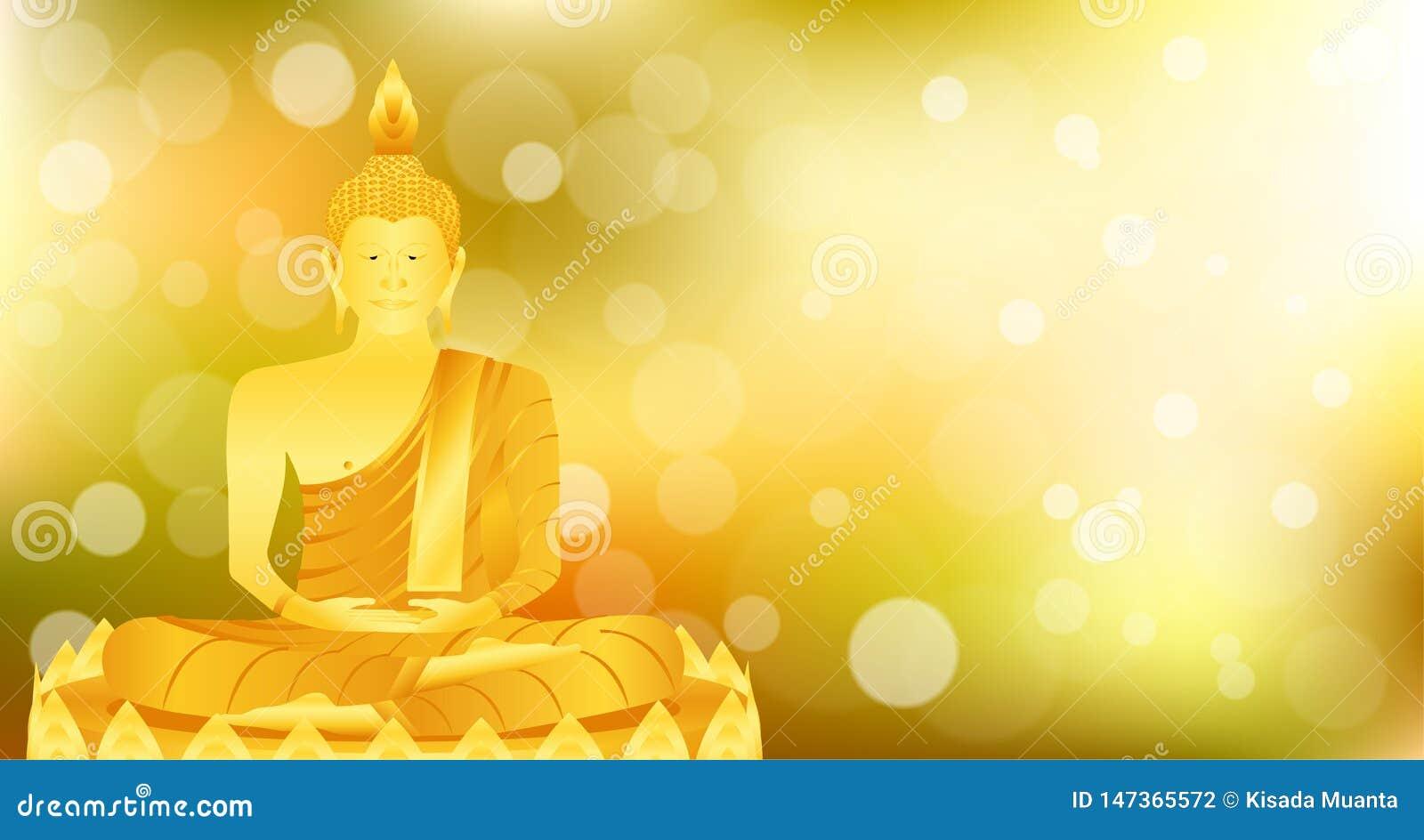 La base del loto de Buda del phra del monje que se sienta para ruega el lanzamiento compuesto concentración Fondo colorido ejempl
