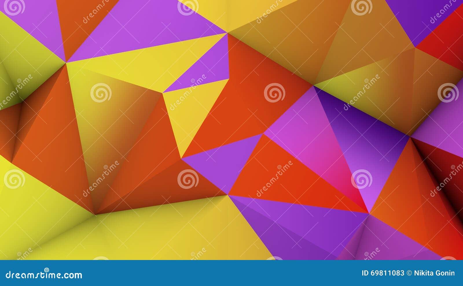 la basse poly surface 3d de couleur vive rendent illustration stock illustration du maille. Black Bedroom Furniture Sets. Home Design Ideas