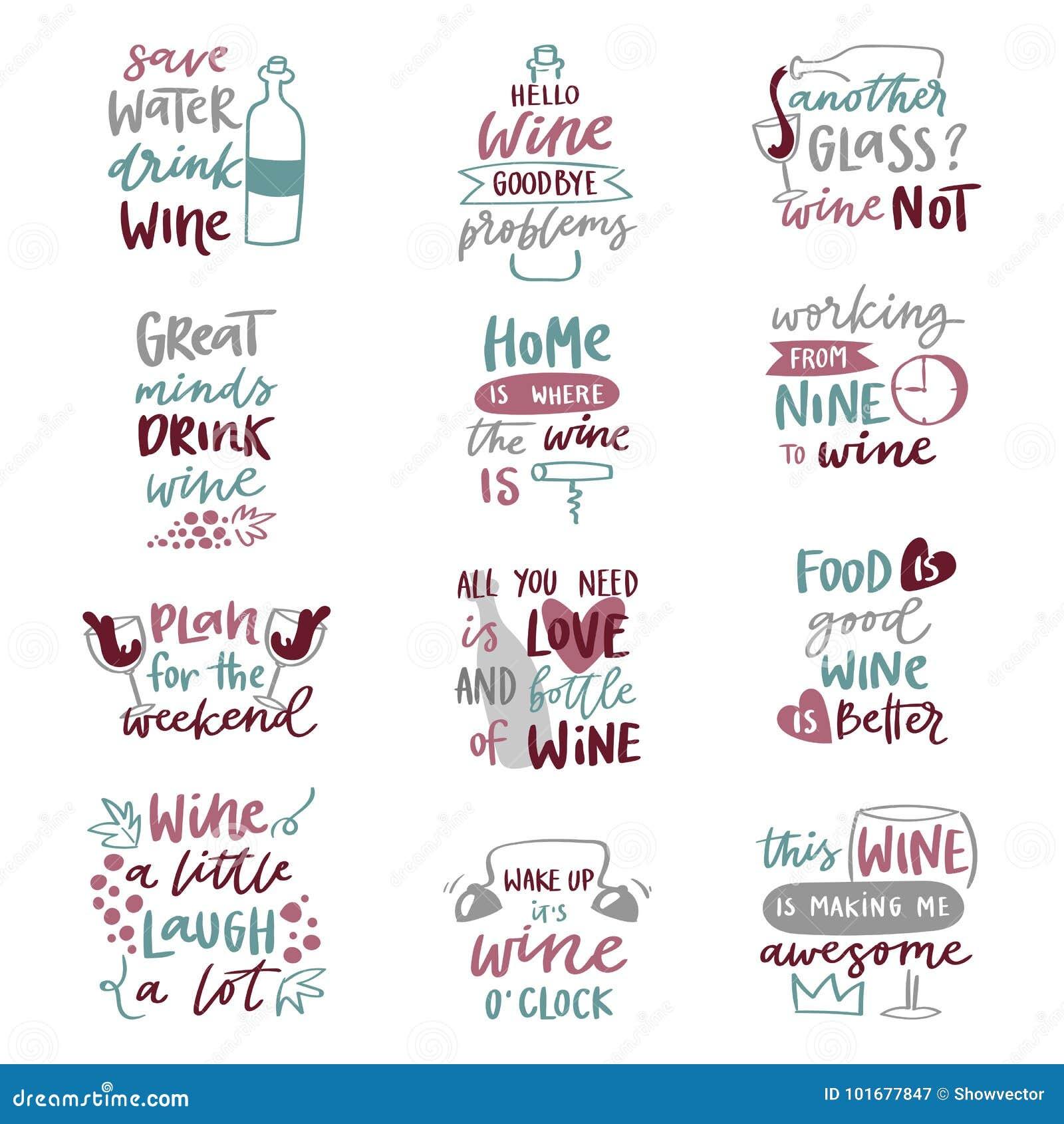 La Bebida Del Alcohol Del Amor Del Vino Expresa El Ejemplo