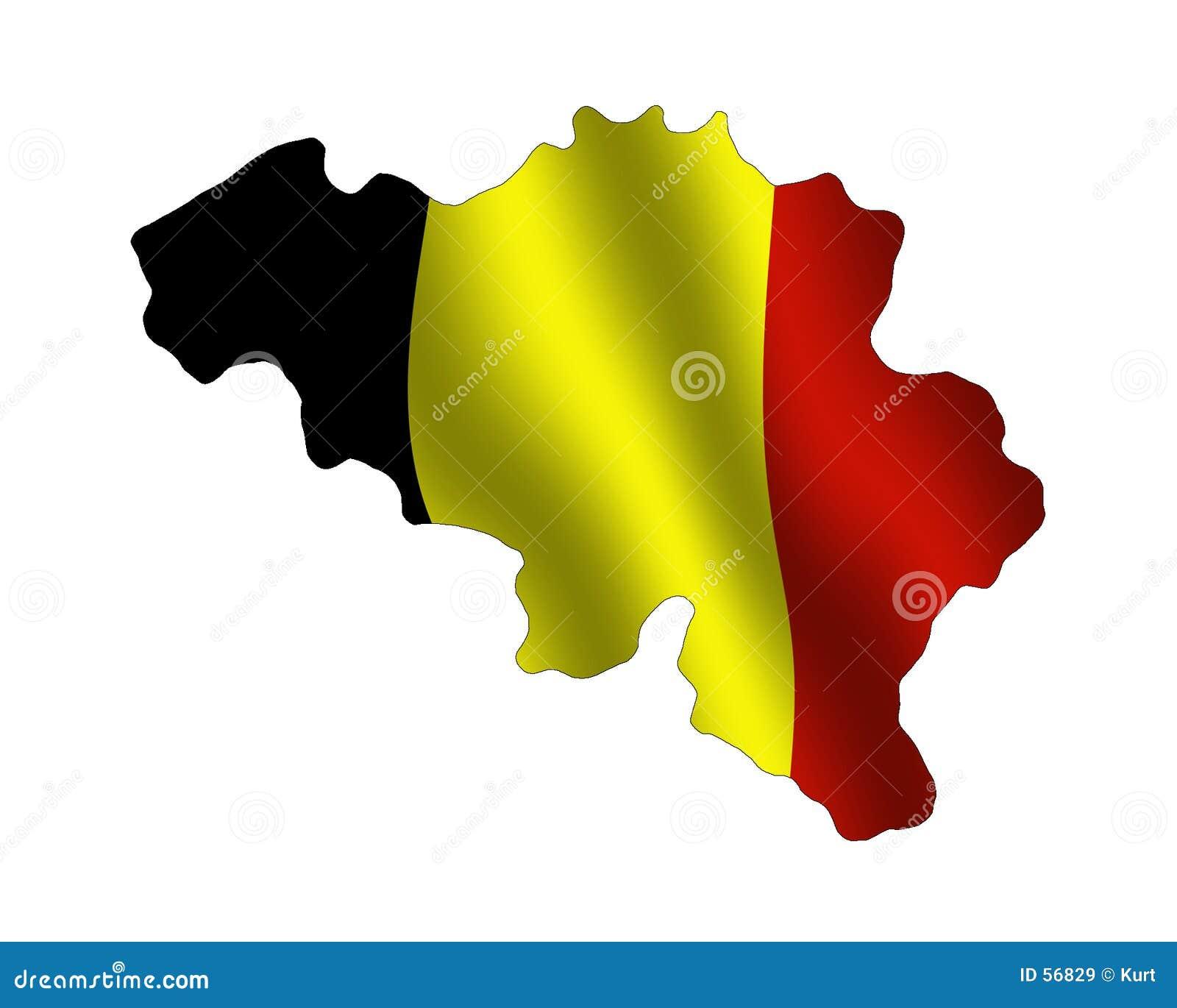 Download La Belgique illustration stock. Illustration du forme, cartes - 56829