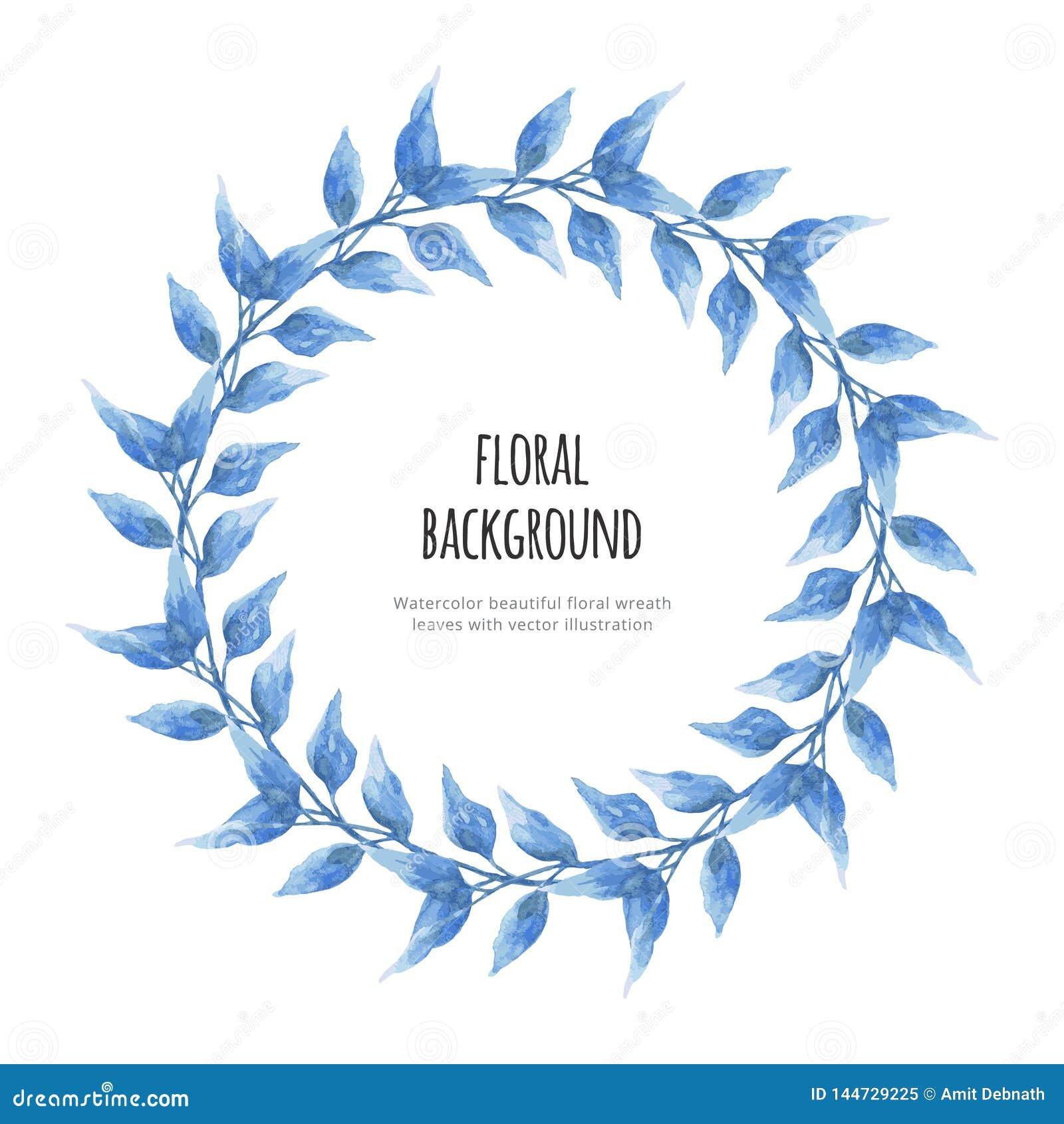 La bella corona floreale dell acquerello va con l illustrazione di vettore