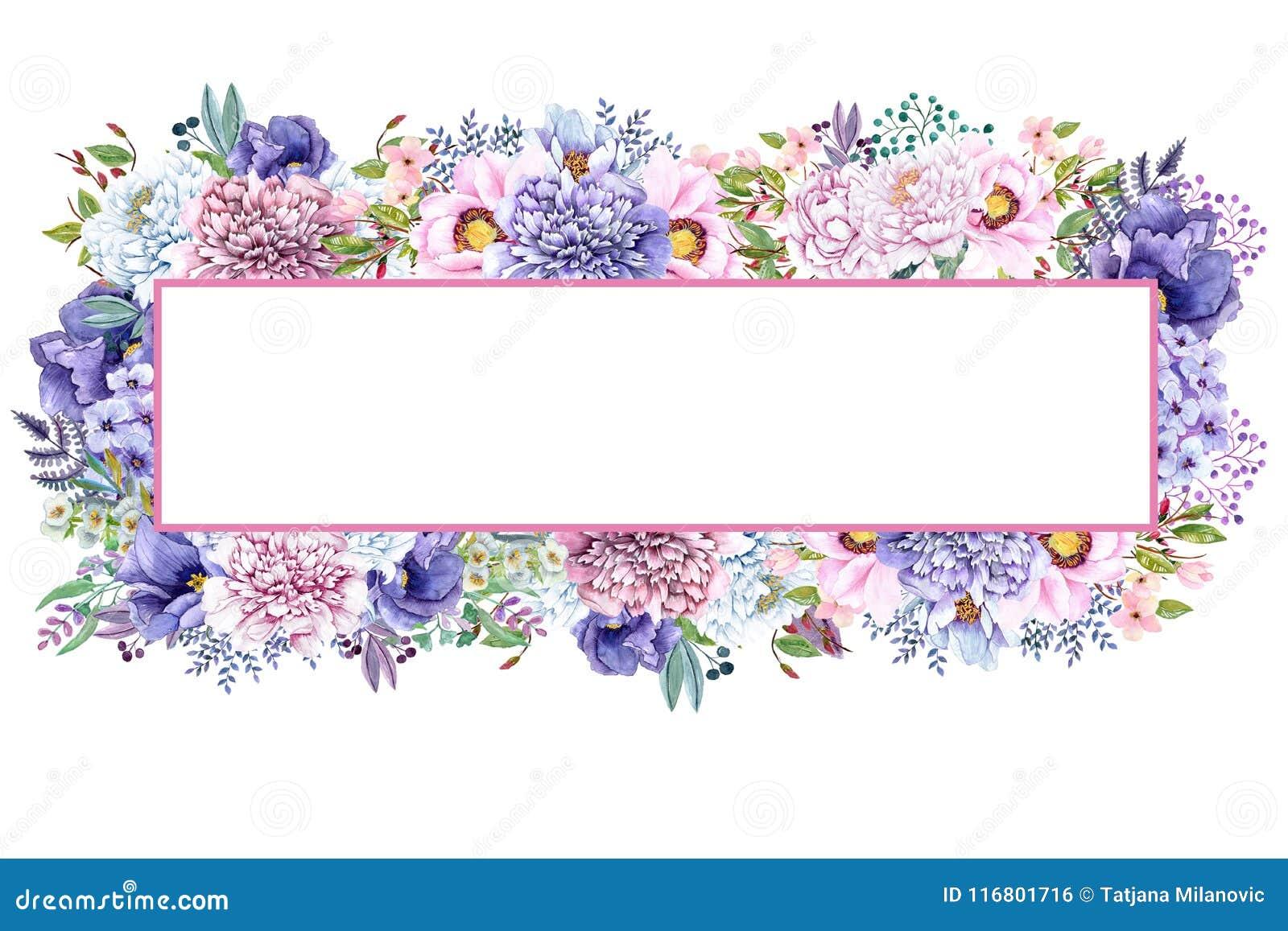 La bella menta dell acquerello fiorisce la struttura Le nozze dell oro della menta invitano il modello