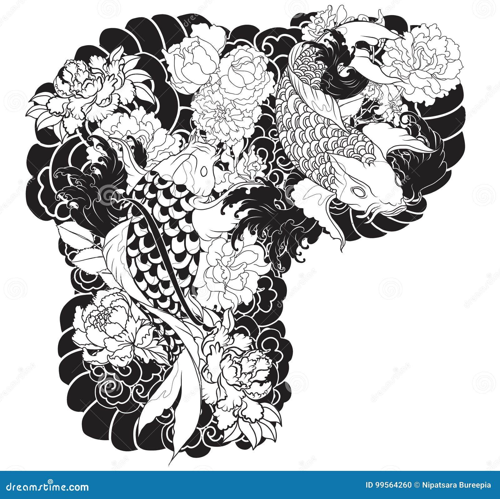 La belle color e carpe de koi avec l 39 claboussure de l for Livre carpe koi