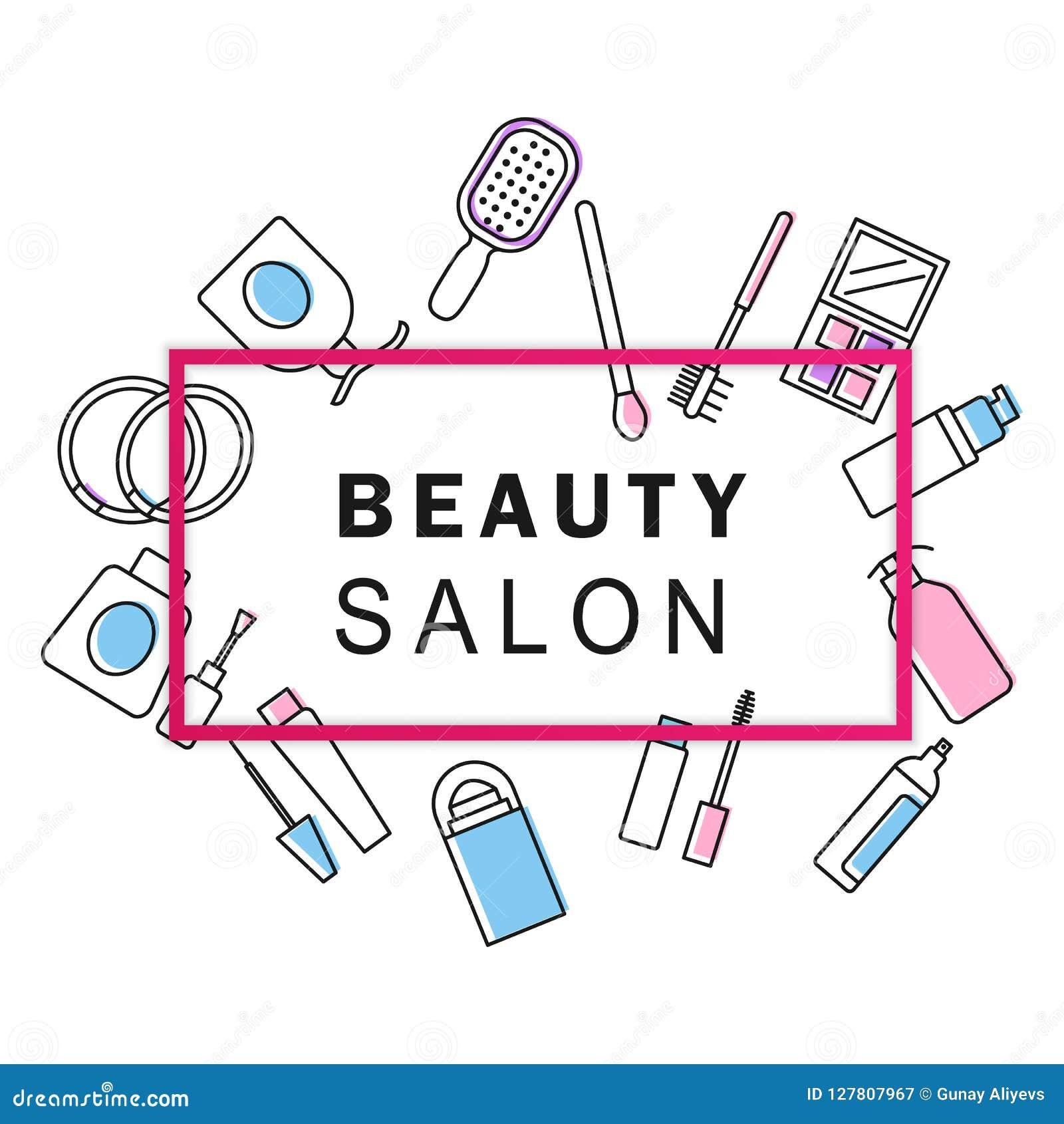 La belleza compone iconos del cartel y los colorea