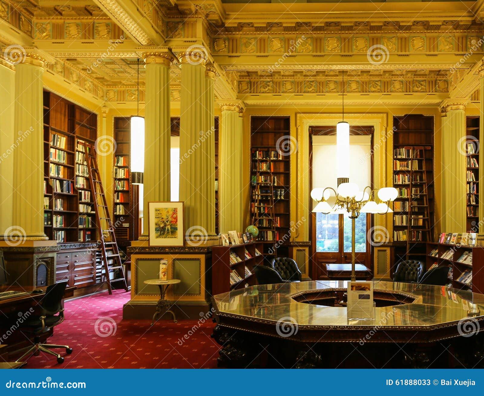 La biblioth que dans la maison du parlement melbourne australie photo stock ditorial image - La maison trojan melbourne ...