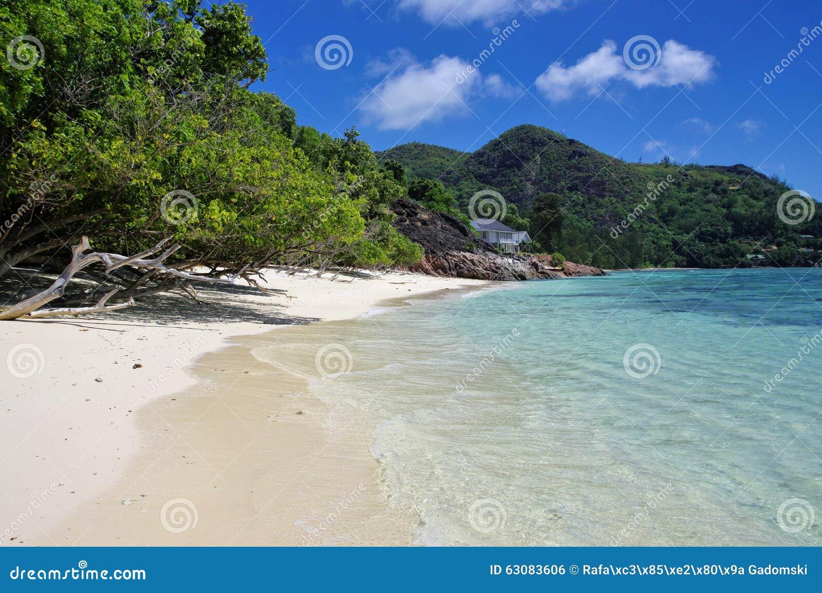 Download La Blague, Seychelles D'Anse Photo stock - Image du roche, seychelles: 63083606