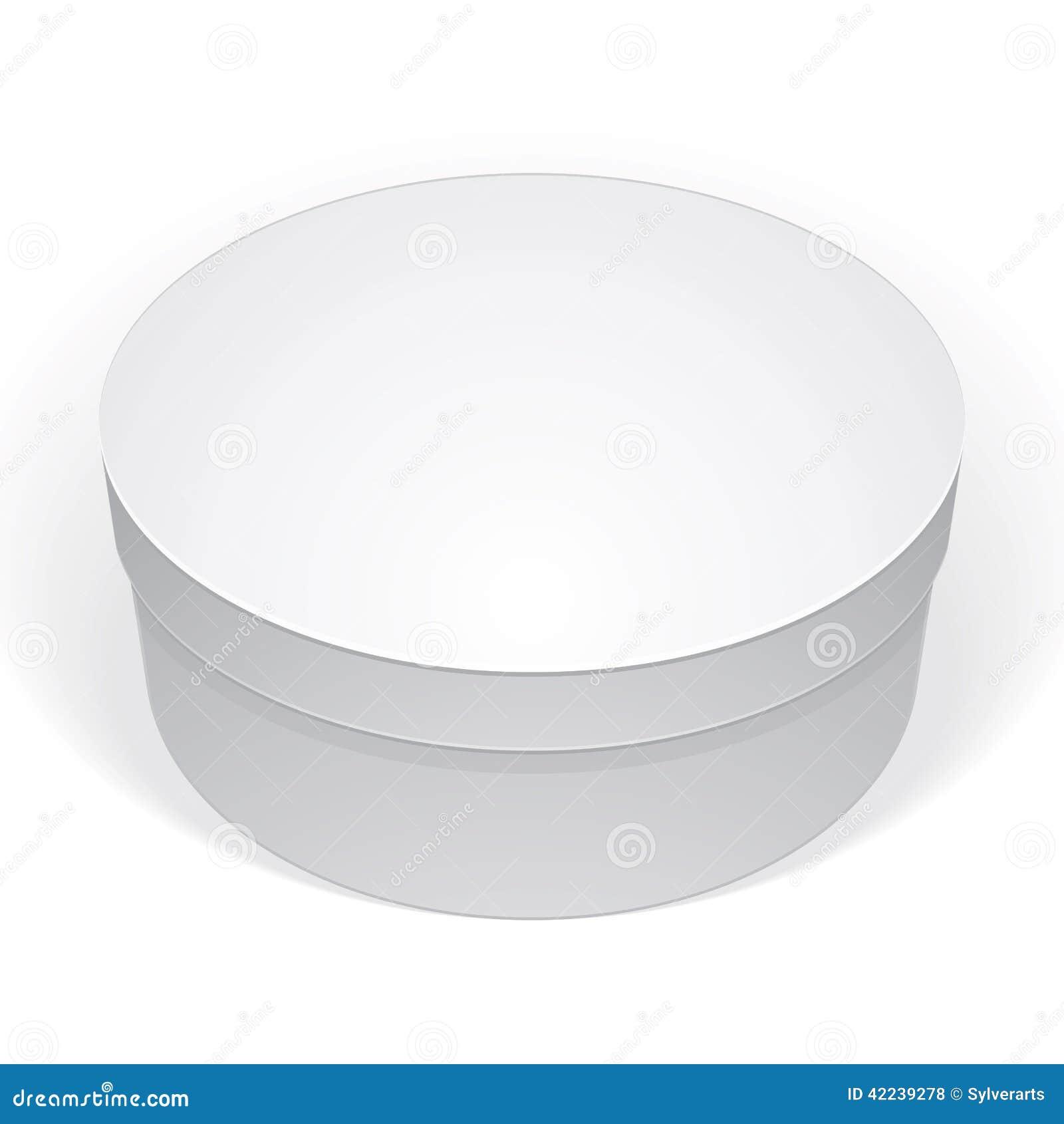 Boite Ronde Blanche : la bo te ronde blanche r aliste de paquet pour des produits a mis votre conception illustration ~ Teatrodelosmanantiales.com Idées de Décoration