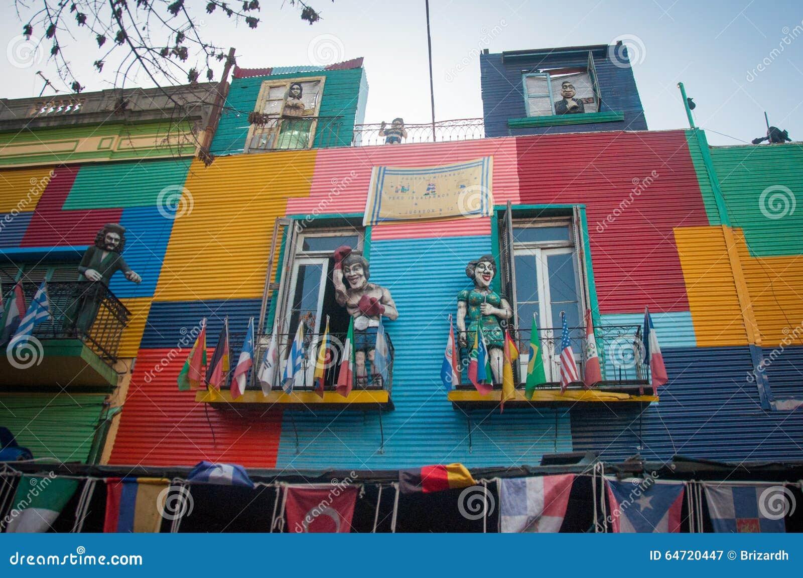 La Boca colorful houses neighborhood, Buenos Aires, Argentina