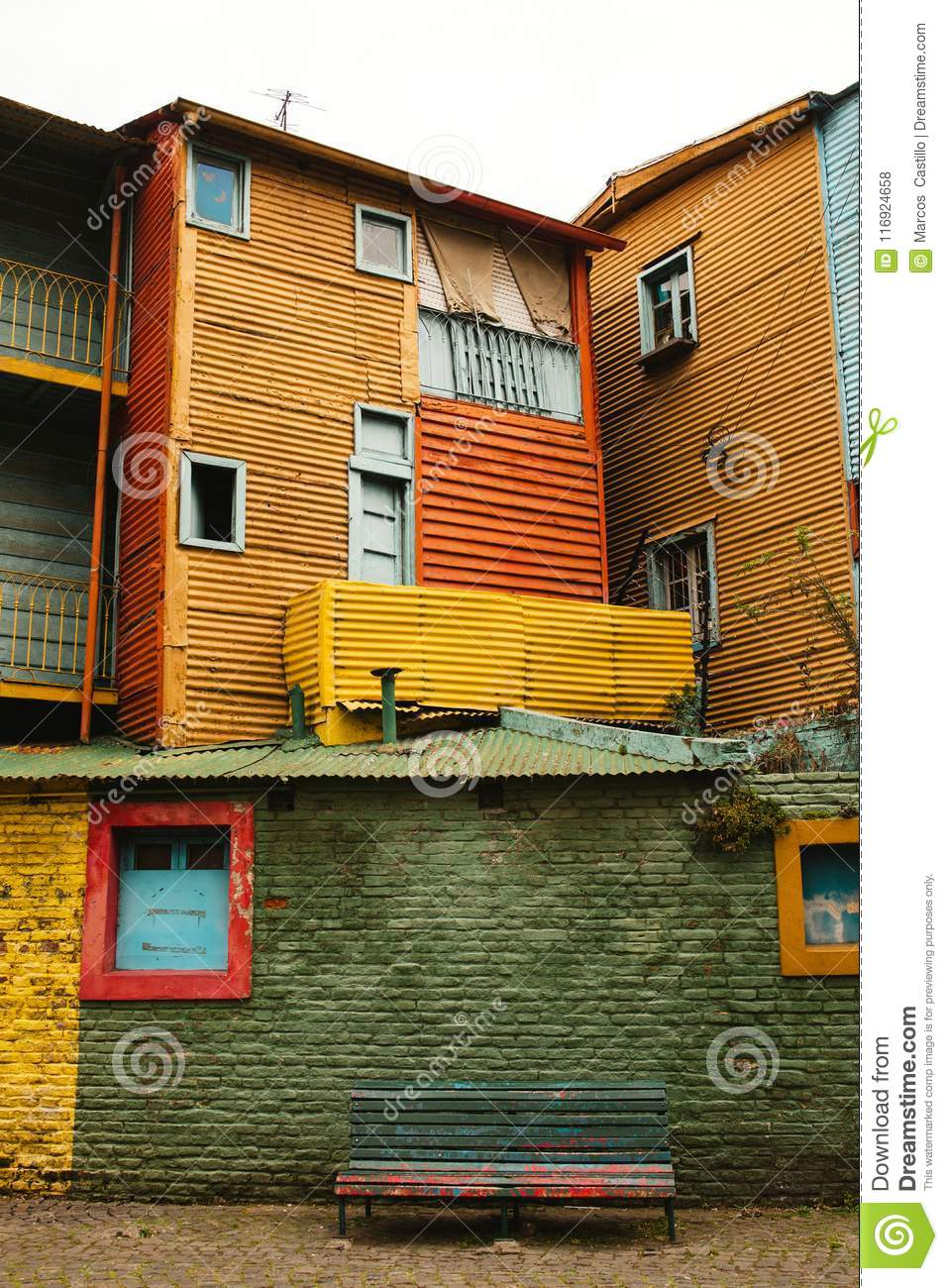 La Boca neighborhood of Buenos Aires Argentina