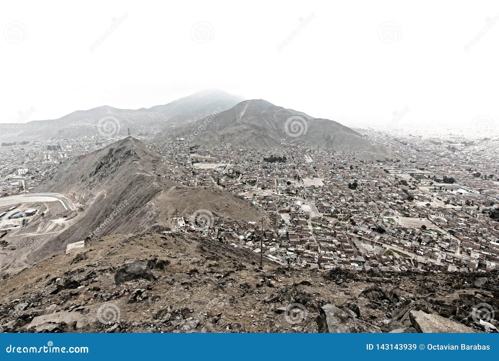 La Bolivie/vue capitale de La Paz du mirador