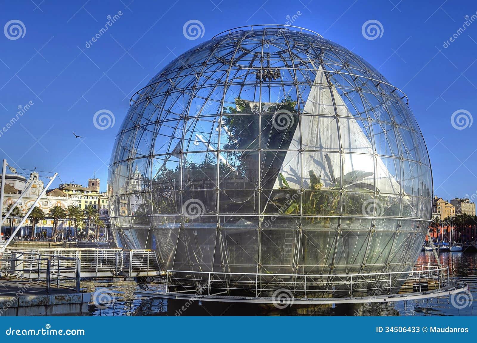 La bolla biosfera da renzo fotografia stock editoriale for Progetti di renzo piano