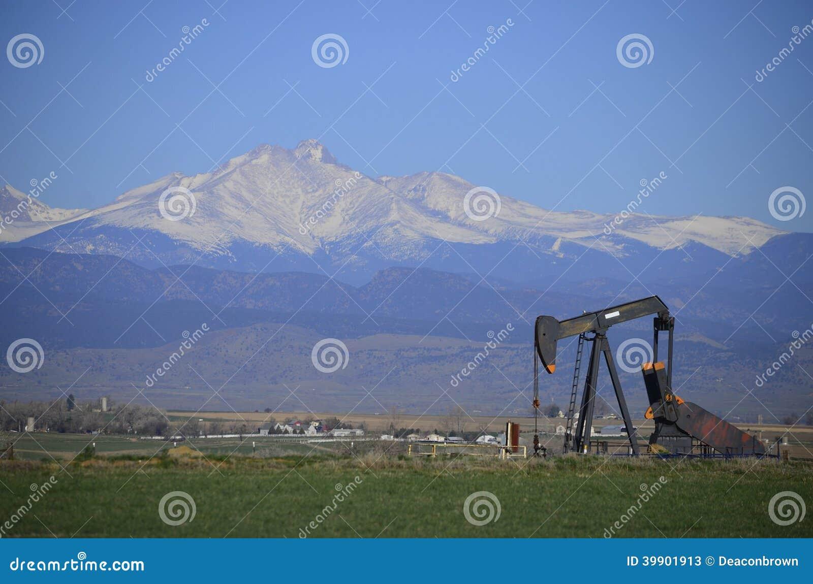 La bomba Jack Oil bien y desea pico