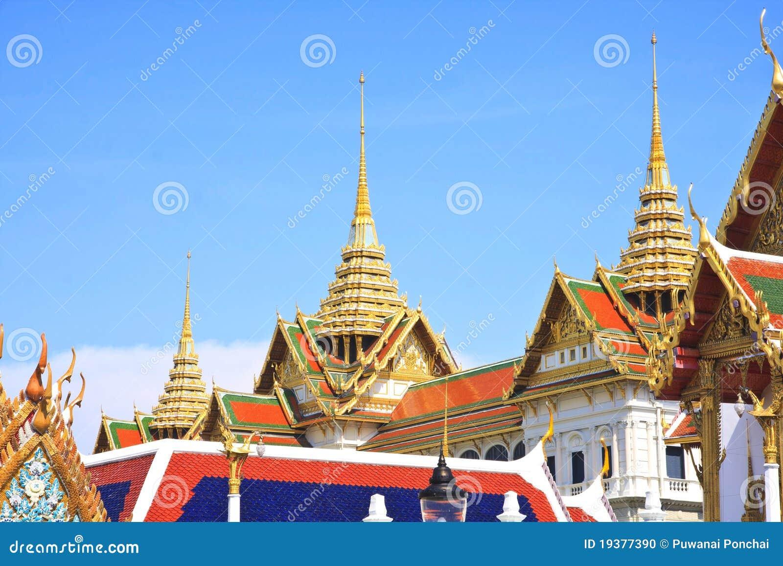 La borne limite célèbre de Bangkok. Le palais grand