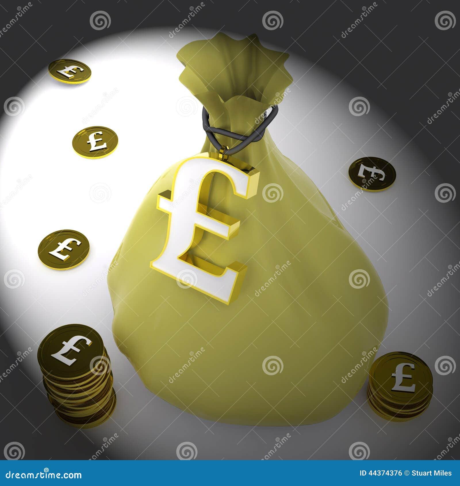 La borsa della libbra significa la ricchezza britannica ed i soldi
