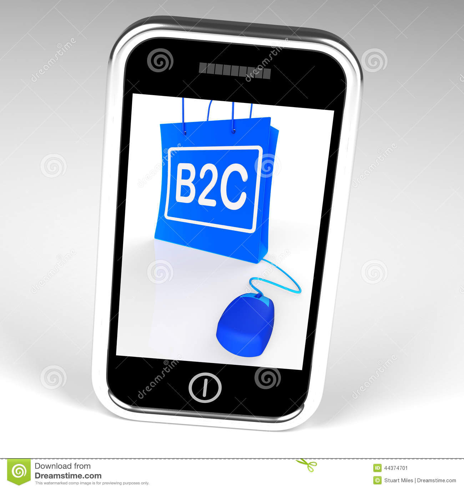 La borsa di B2C visualizza l affare ad acquisto online del cliente
