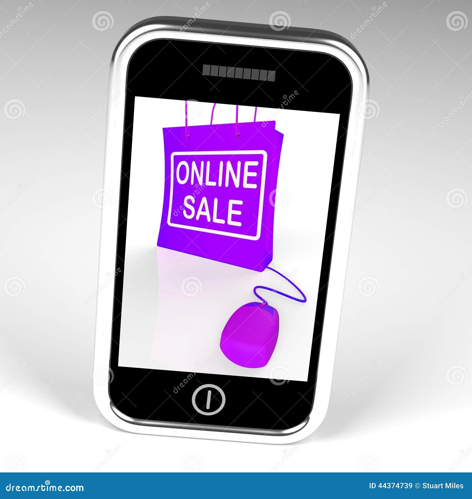 La borsa online di vendita visualizza le vendite e gli sconti di Internet