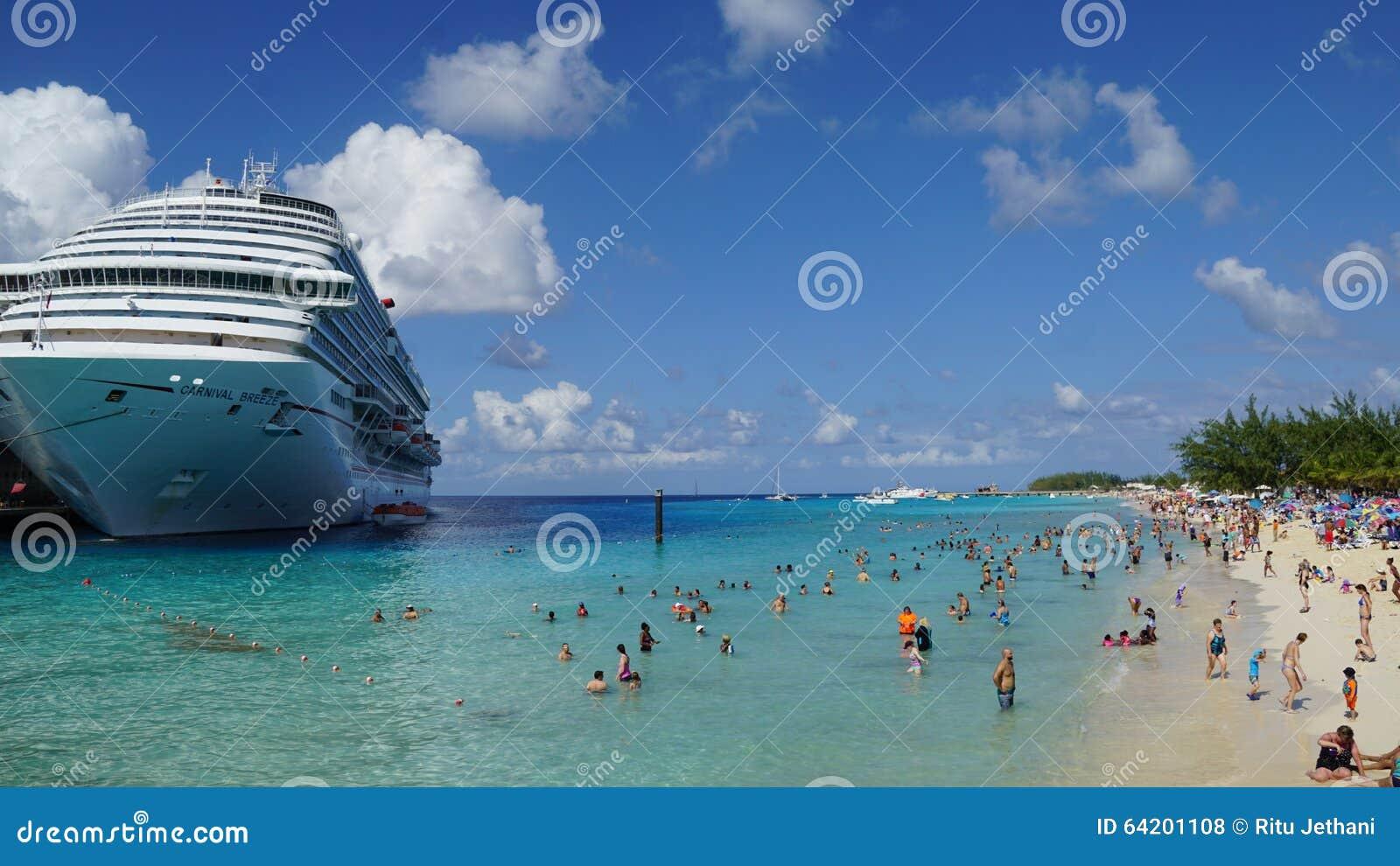 La brisa del carnaval atracó en el turco magnífico, Turks and Caicos Islands