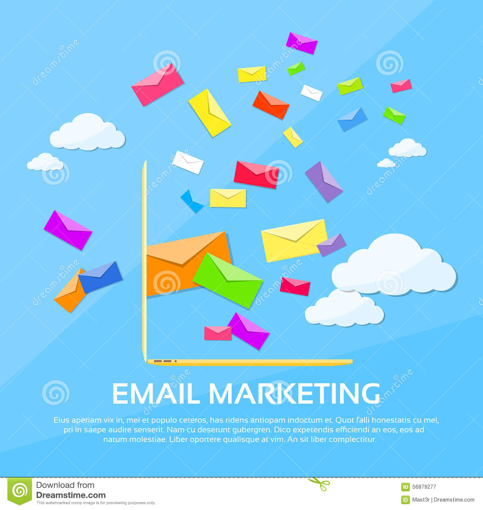La busta del computer portatile del email di vendita di Digital invia